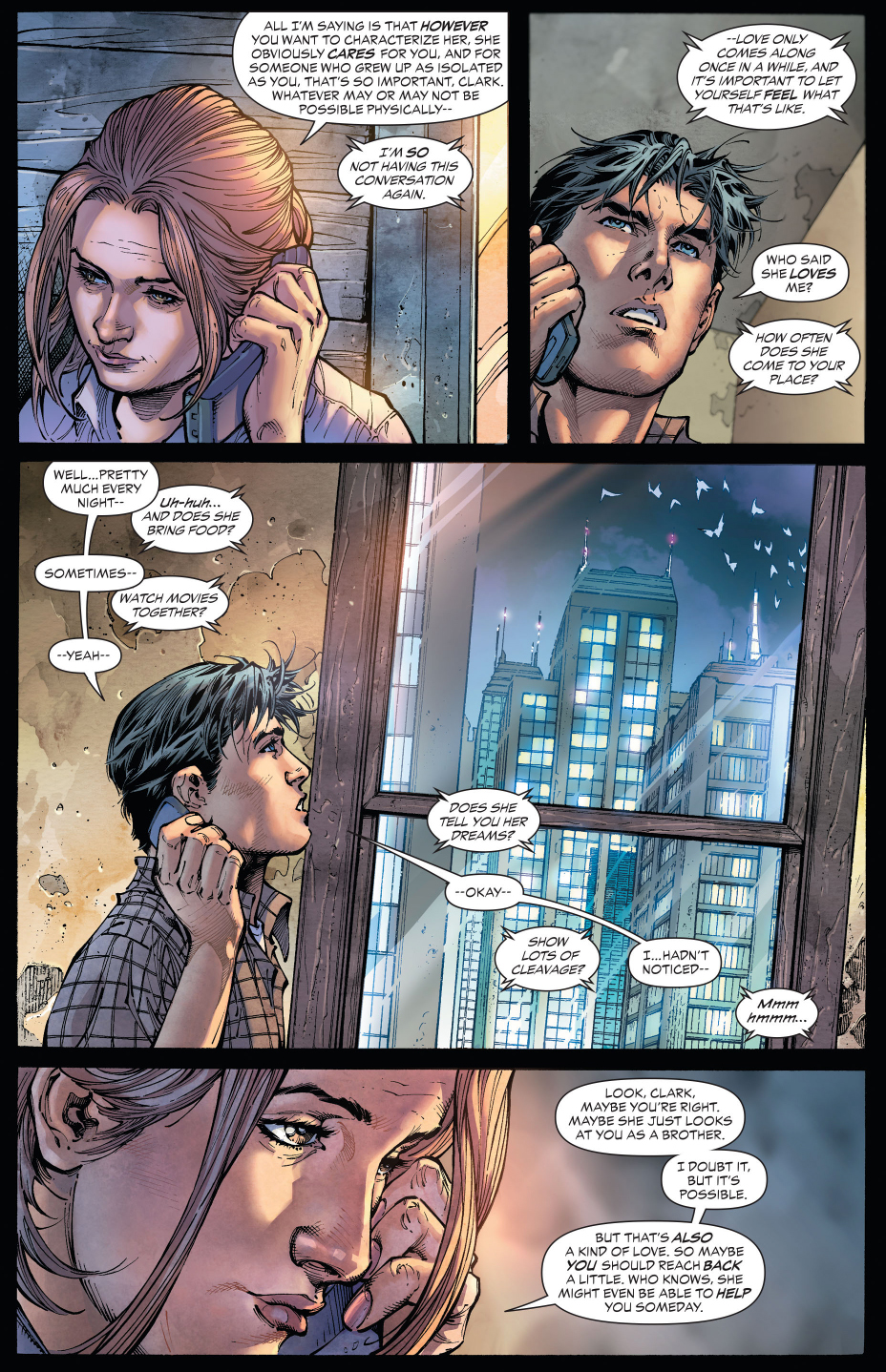 clark kent gets some motherly advice about girls