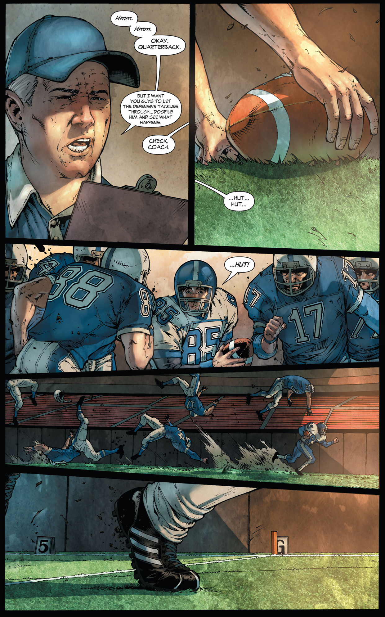 clark kent tries out for a football team