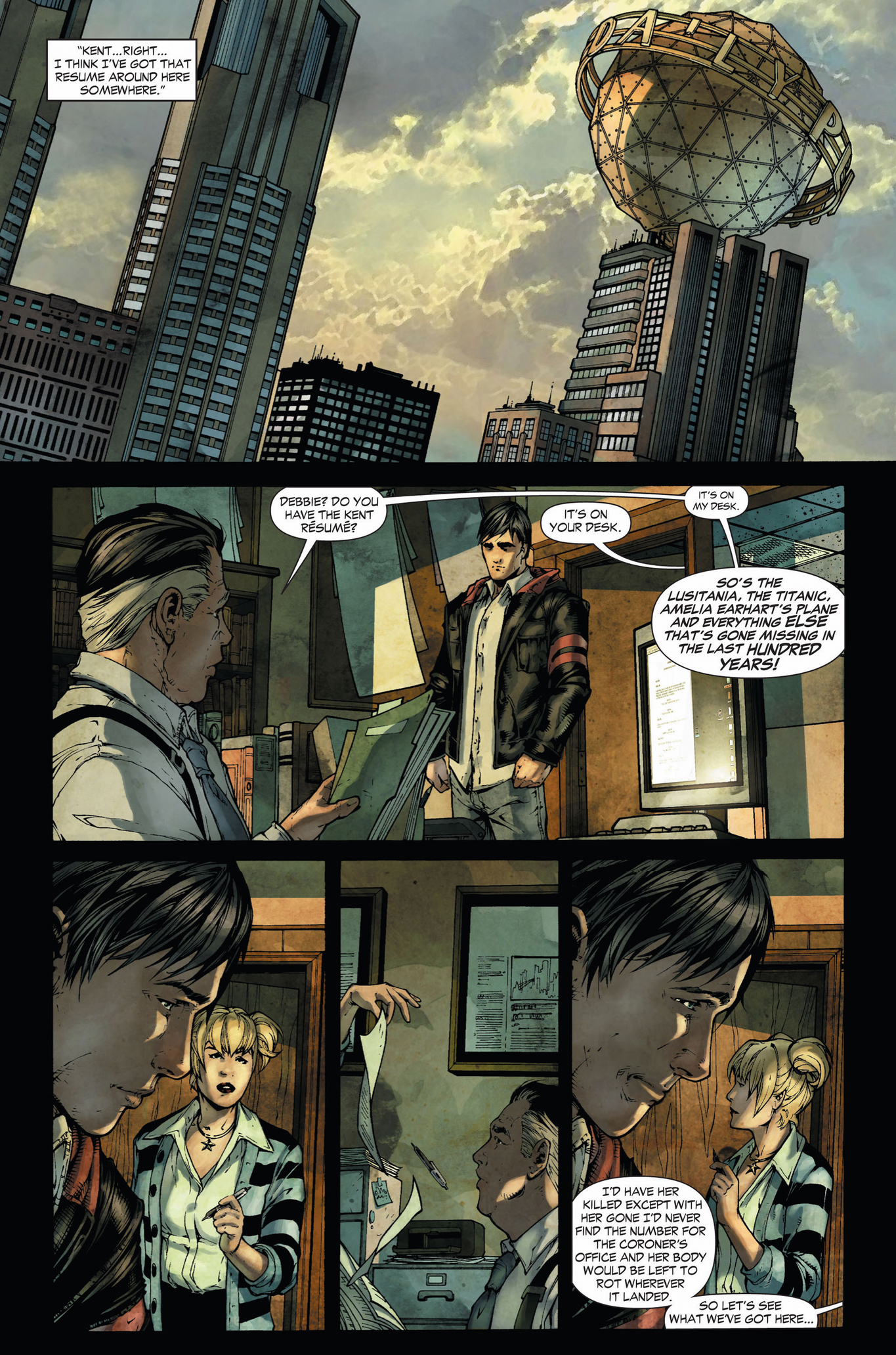 clark kent's daily planet interview (earth 1)