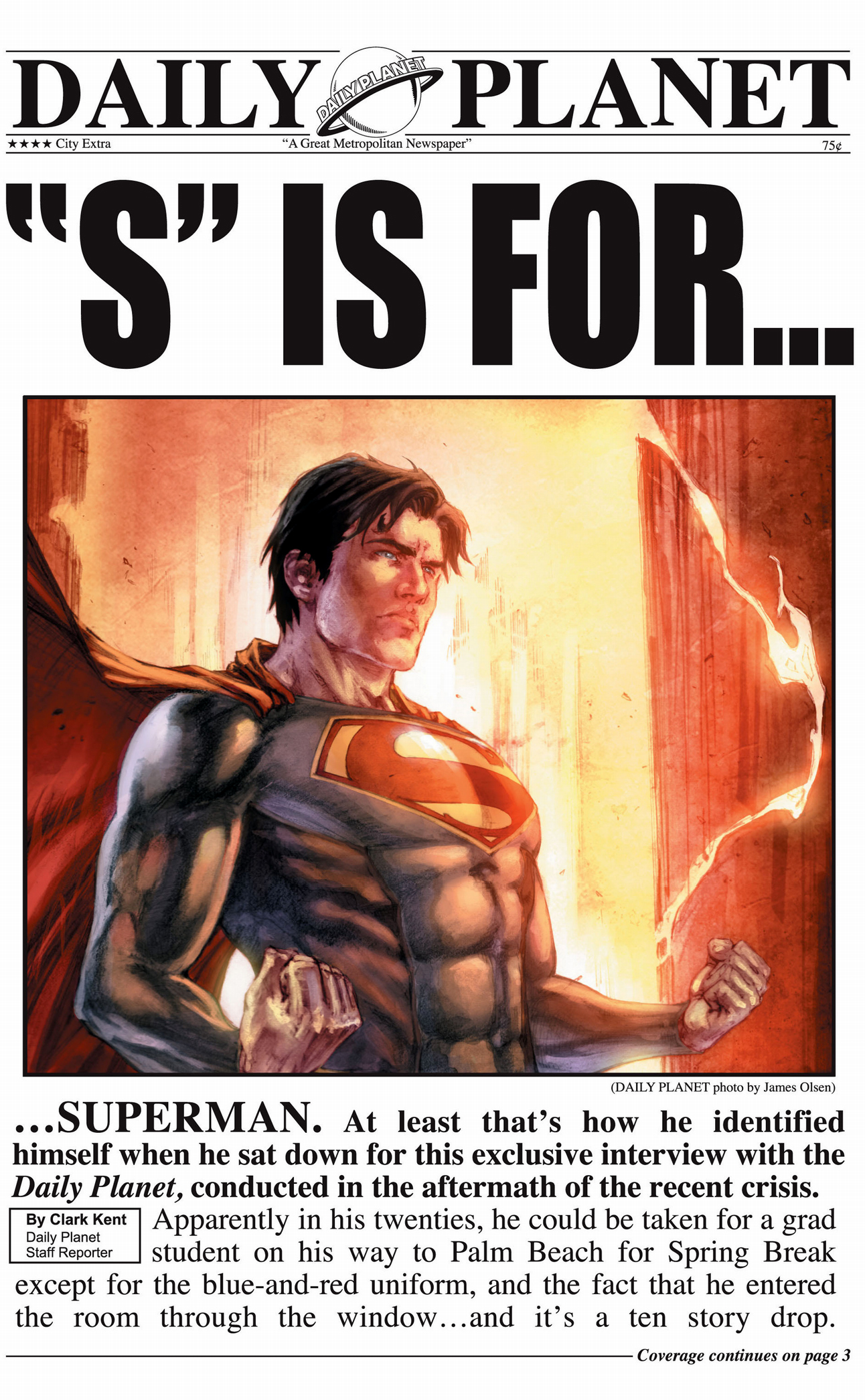 clark kent's interview with superman (earth 1)