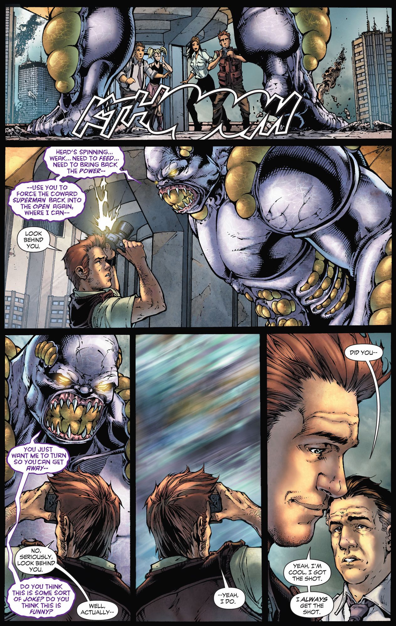 jimmy olsen faces off with the parasite (earth 1)