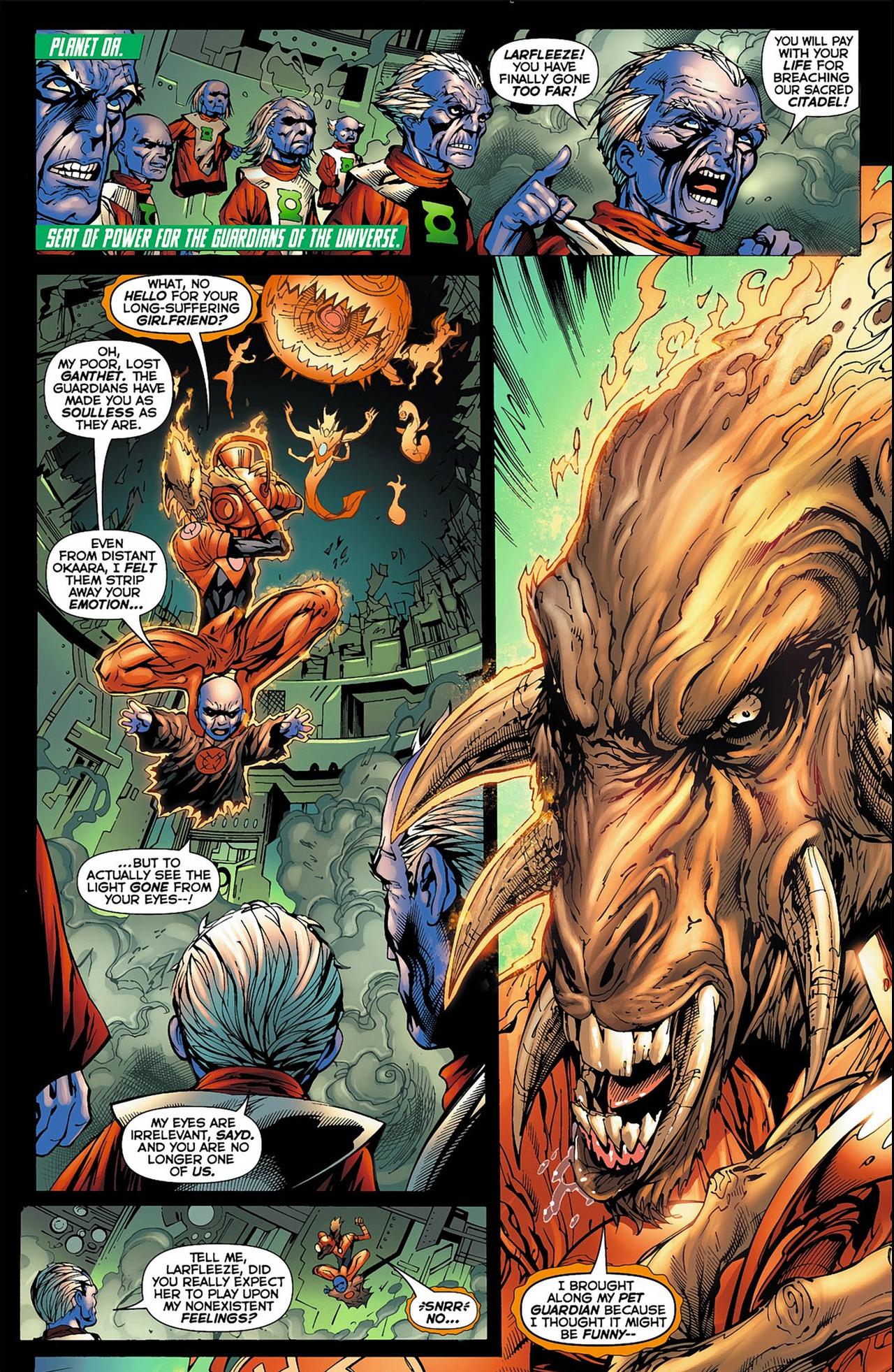 larfleeze vs the guardians of the universe
