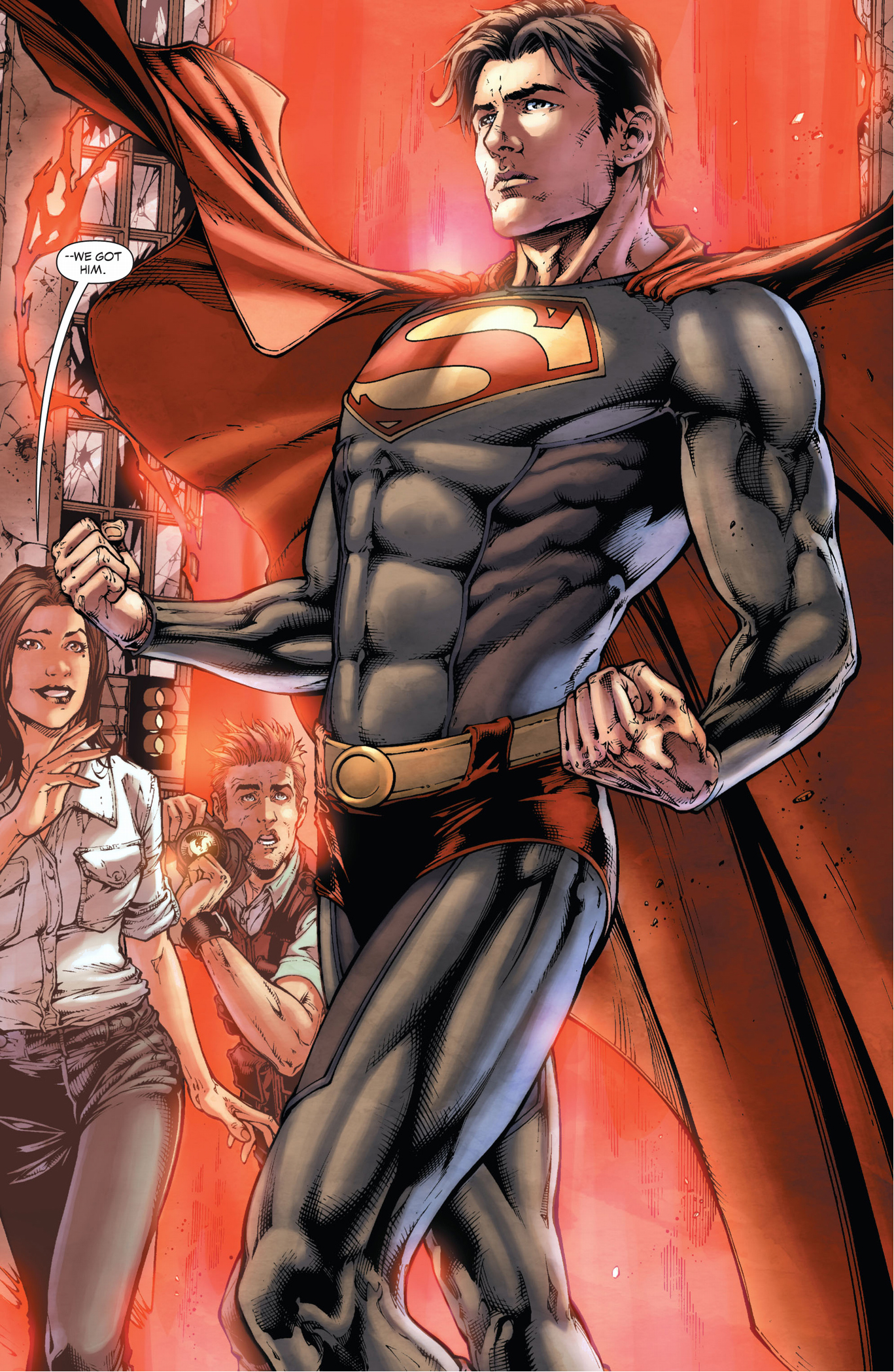 lois land and jimmy olsen rescues superman (earth 1)