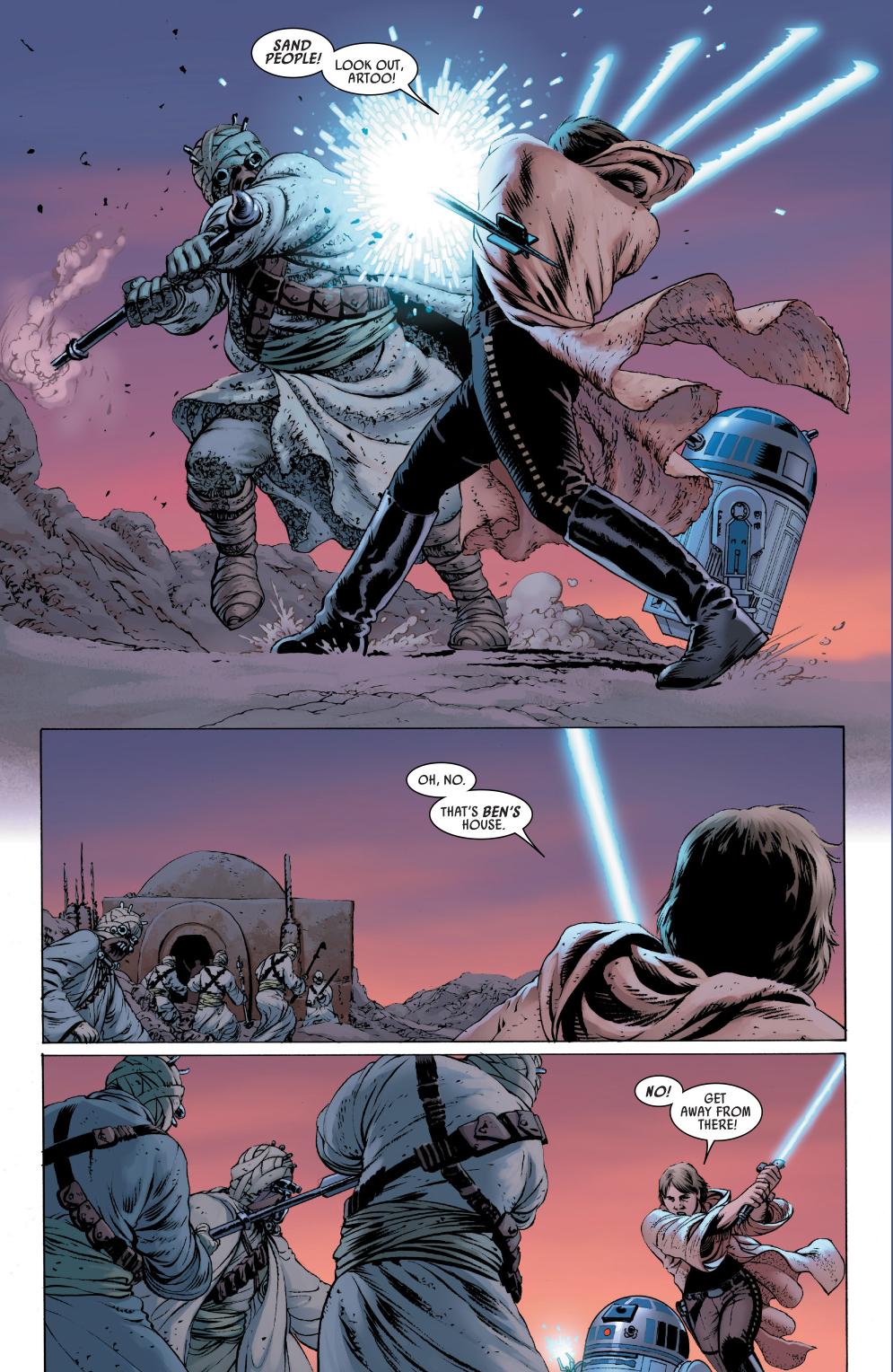 luke skywalker vs tusken raiders