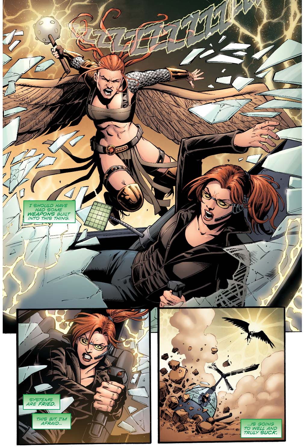 oracle vs hawkgirl (convergence)