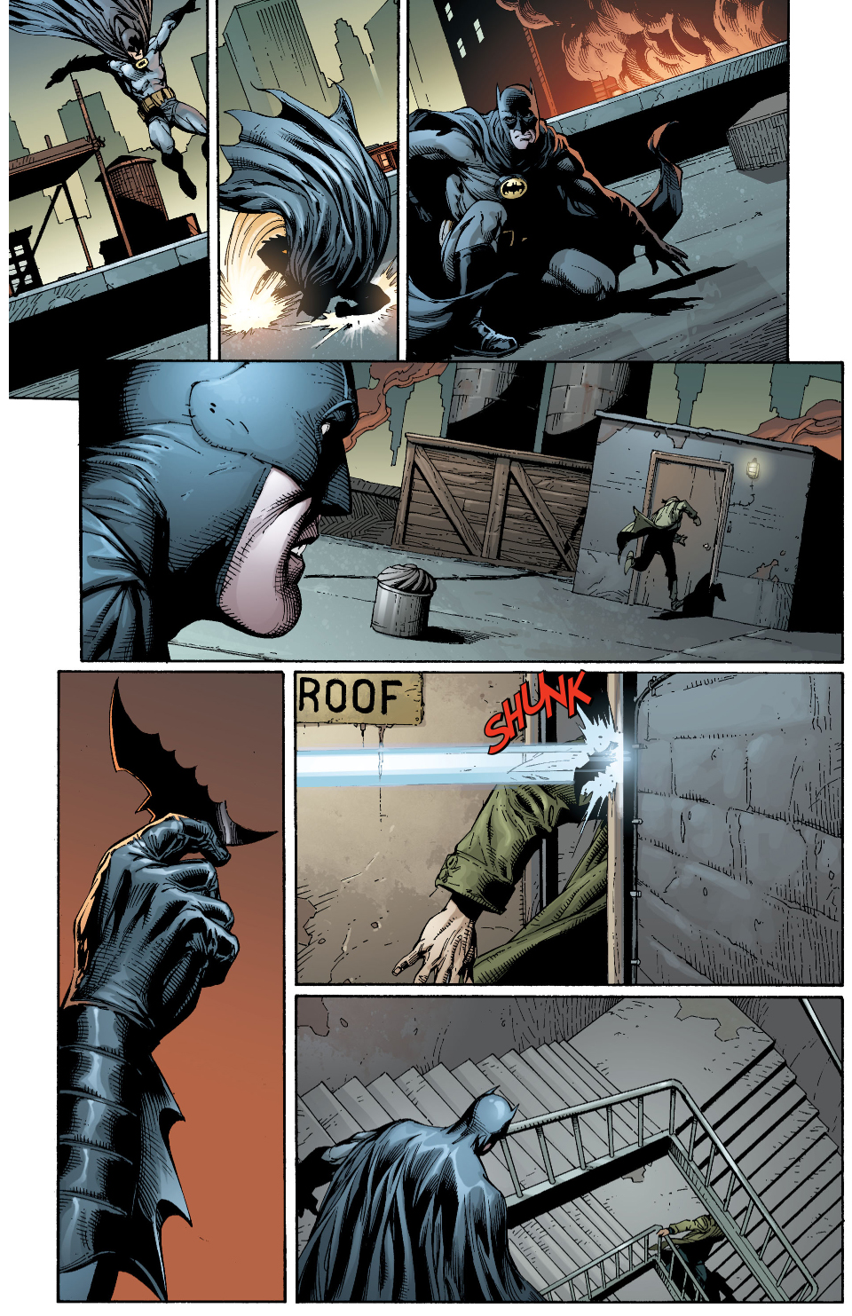 the riddler takes out batman (earth 1)