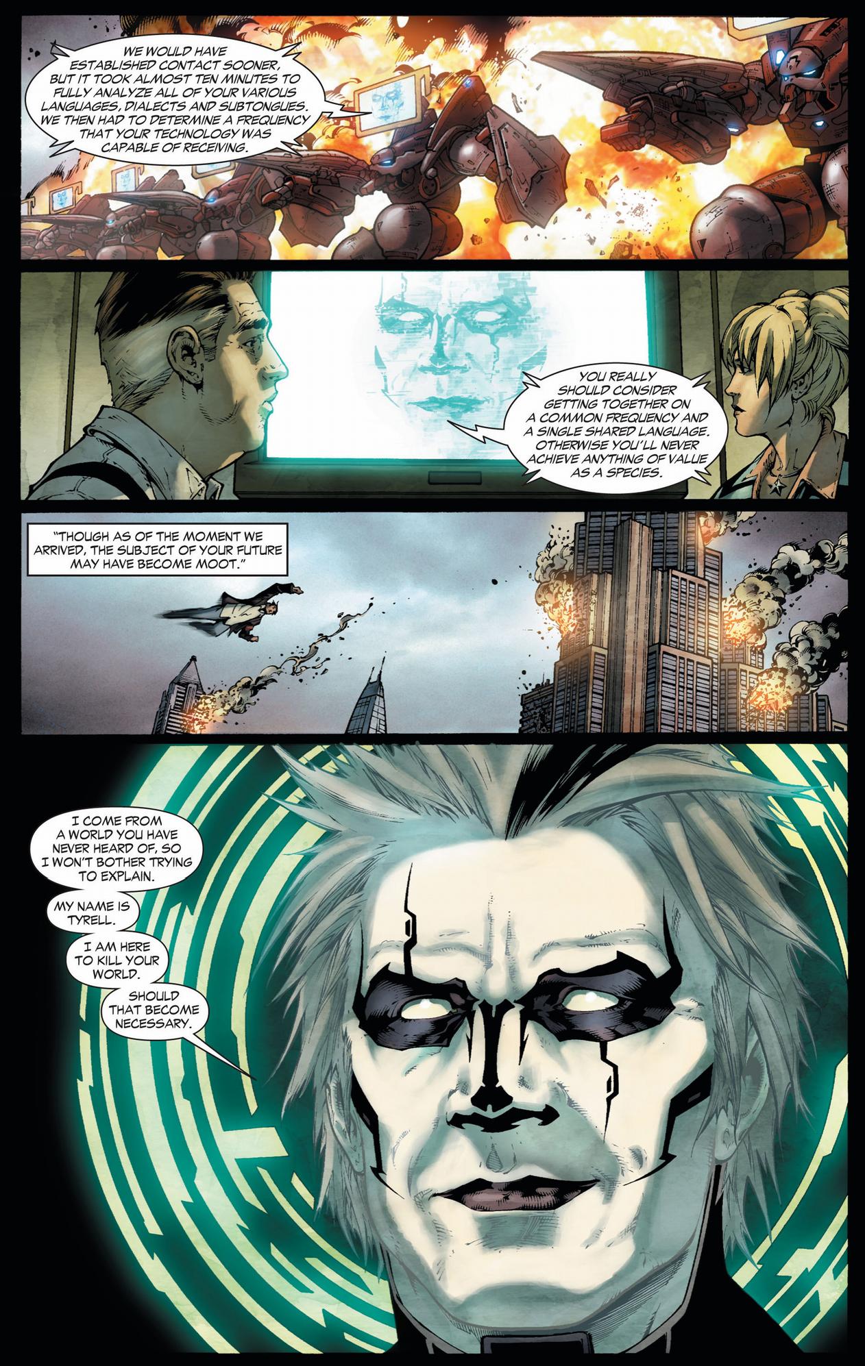 tyrell demands superman's surrender