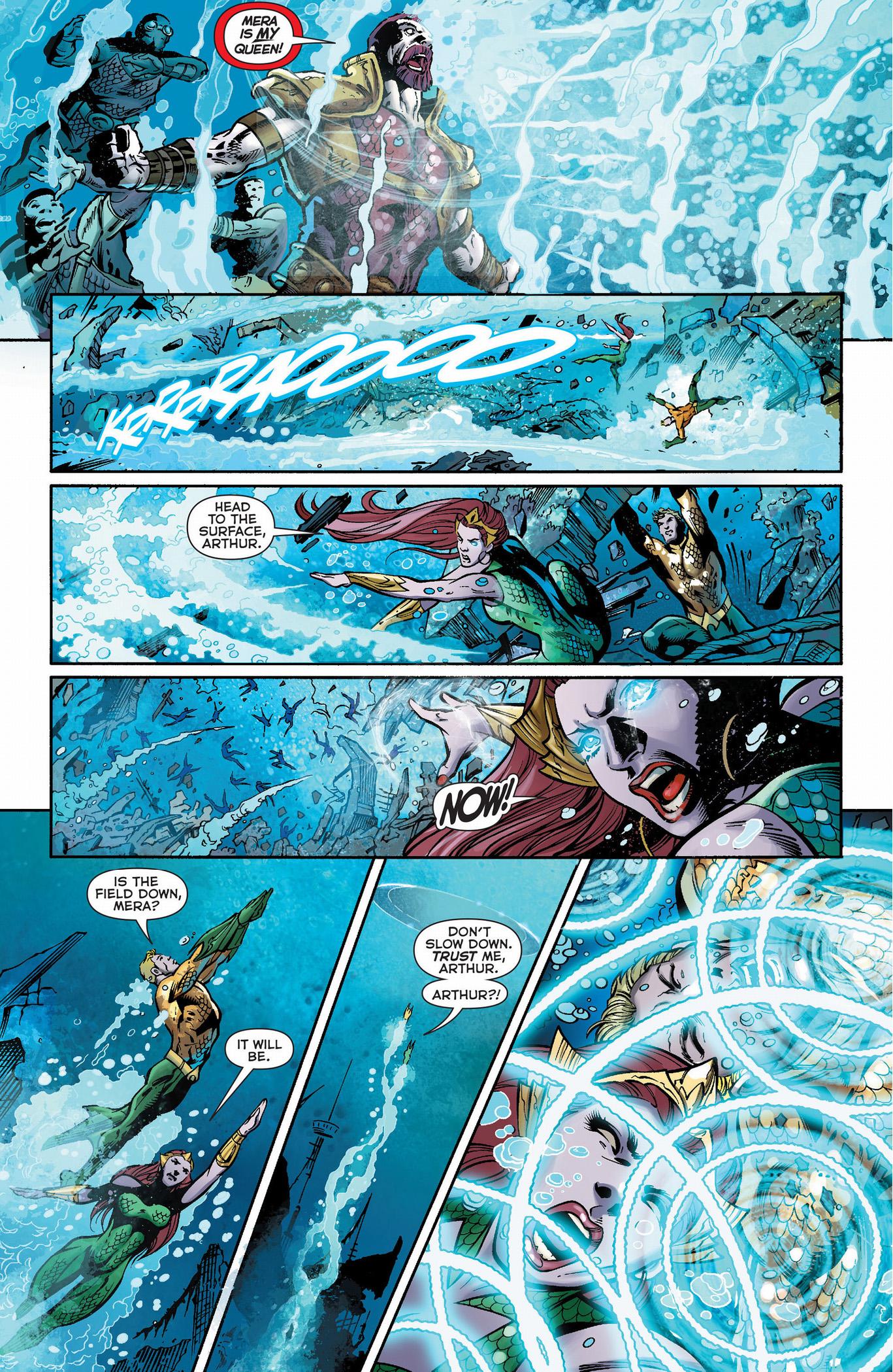 aquaman and mera escapes xebel