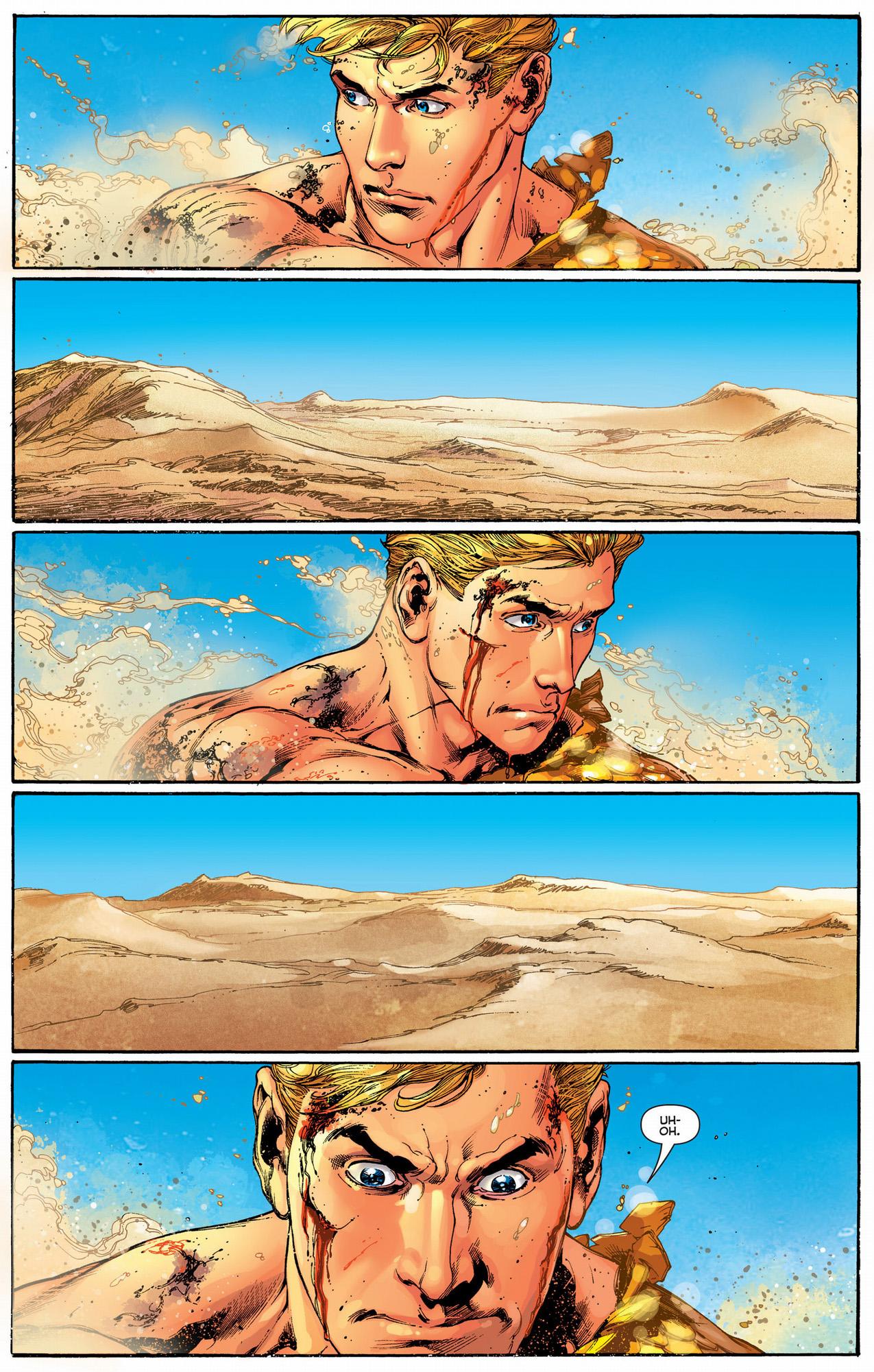 aquaman is stuck in a desert