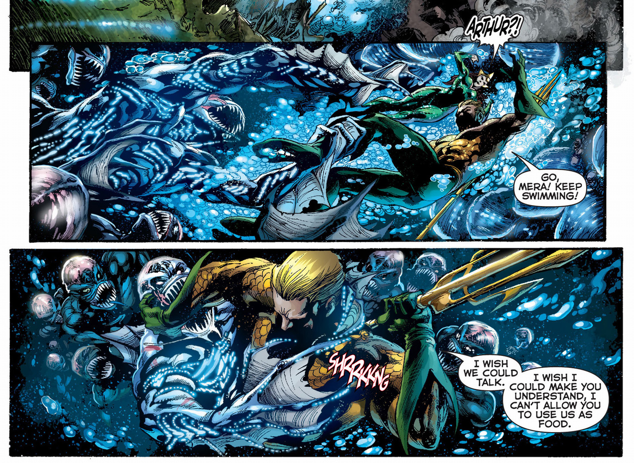 aquaman vs the queen of the trench
