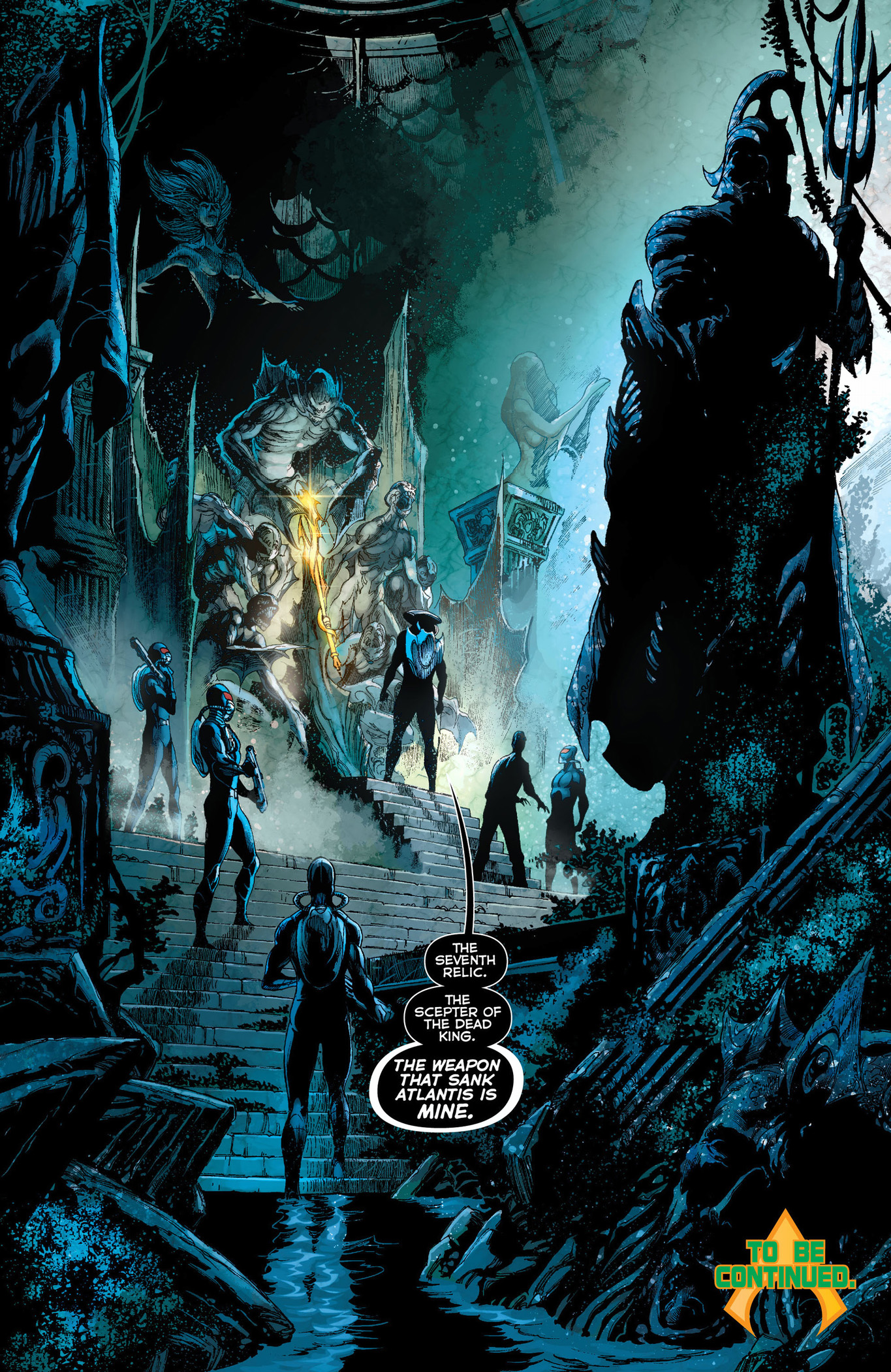 black manta finds the scepter of the dead king