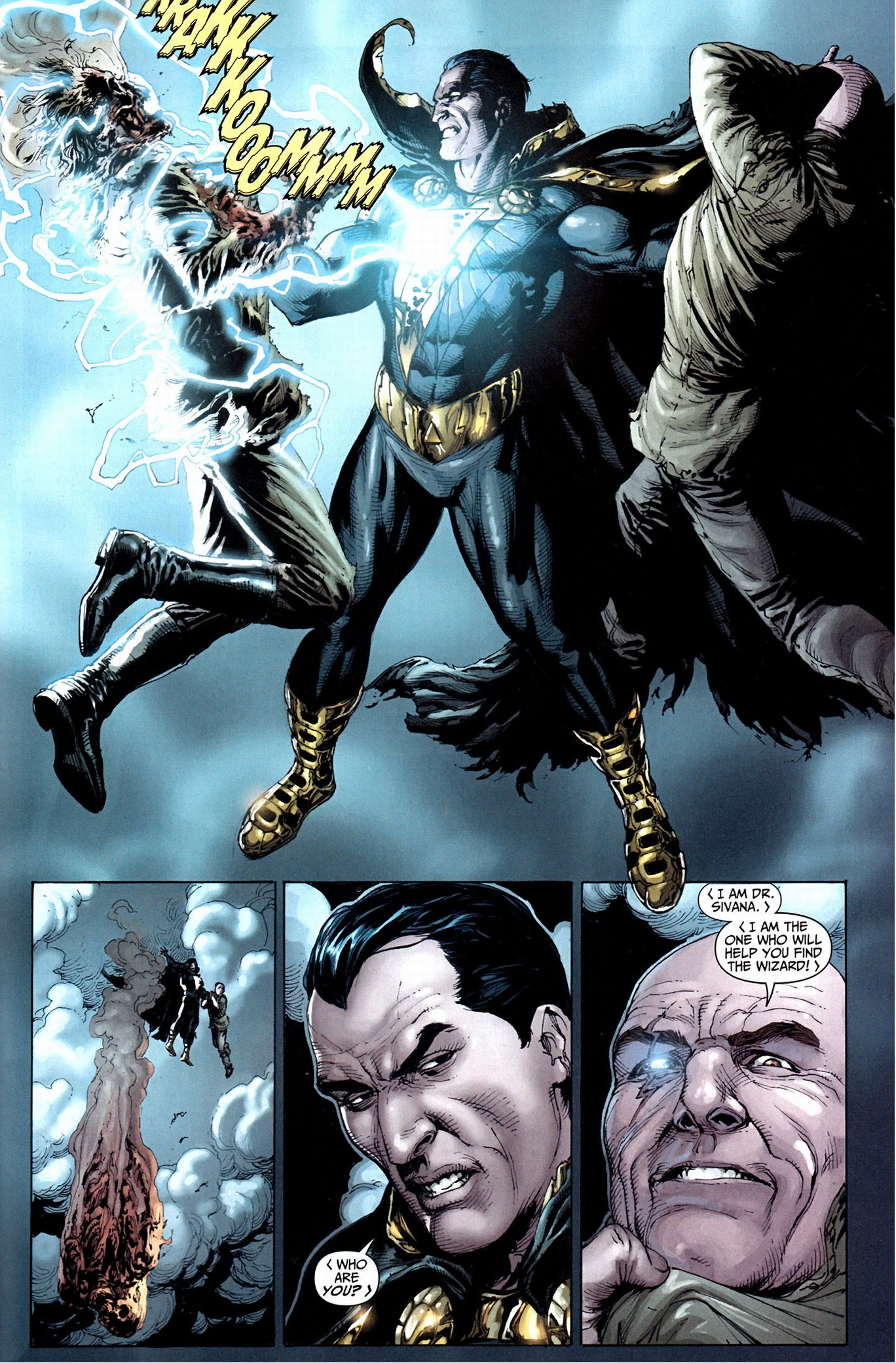 doctor sivana's first meeting with black adam