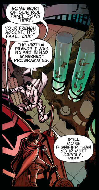 gambit calls fantomex out on his french accent
