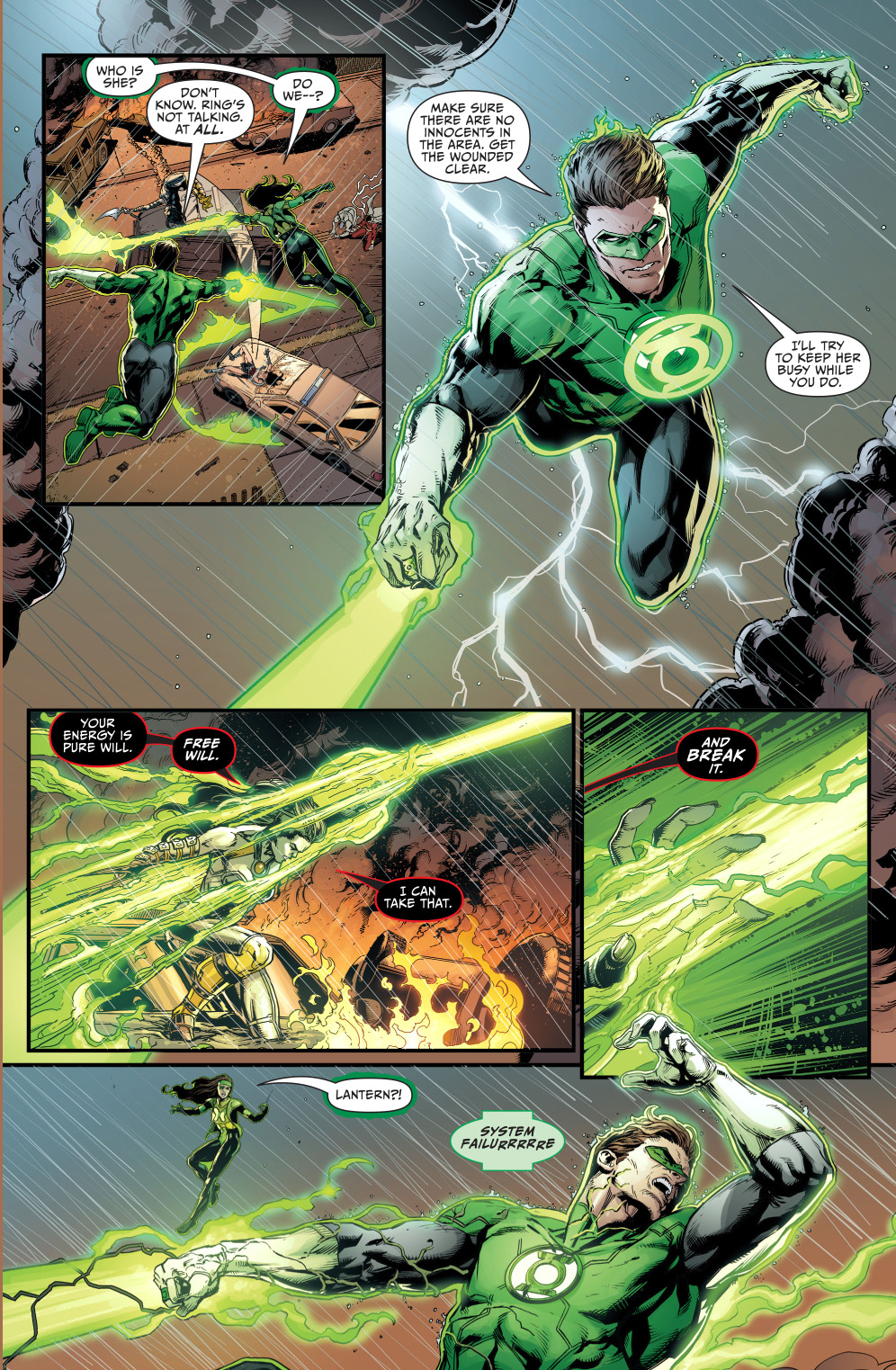grail takes out green lantern and power ring