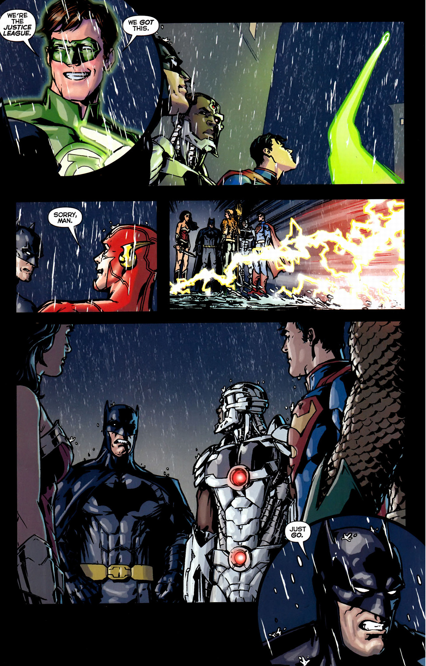 green lantern taunting batman