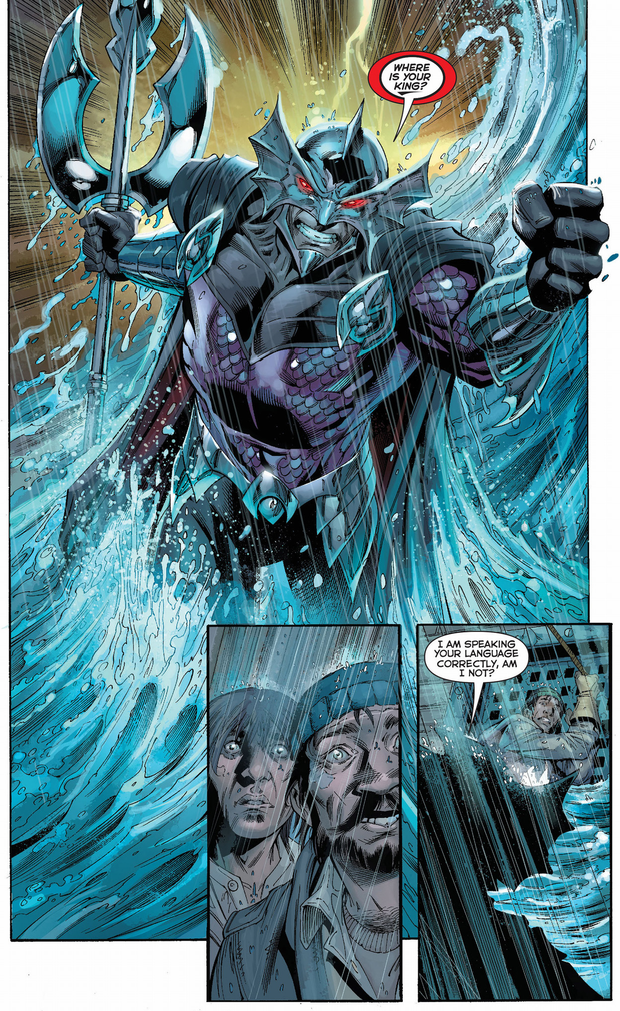 ocean master interacts with humans