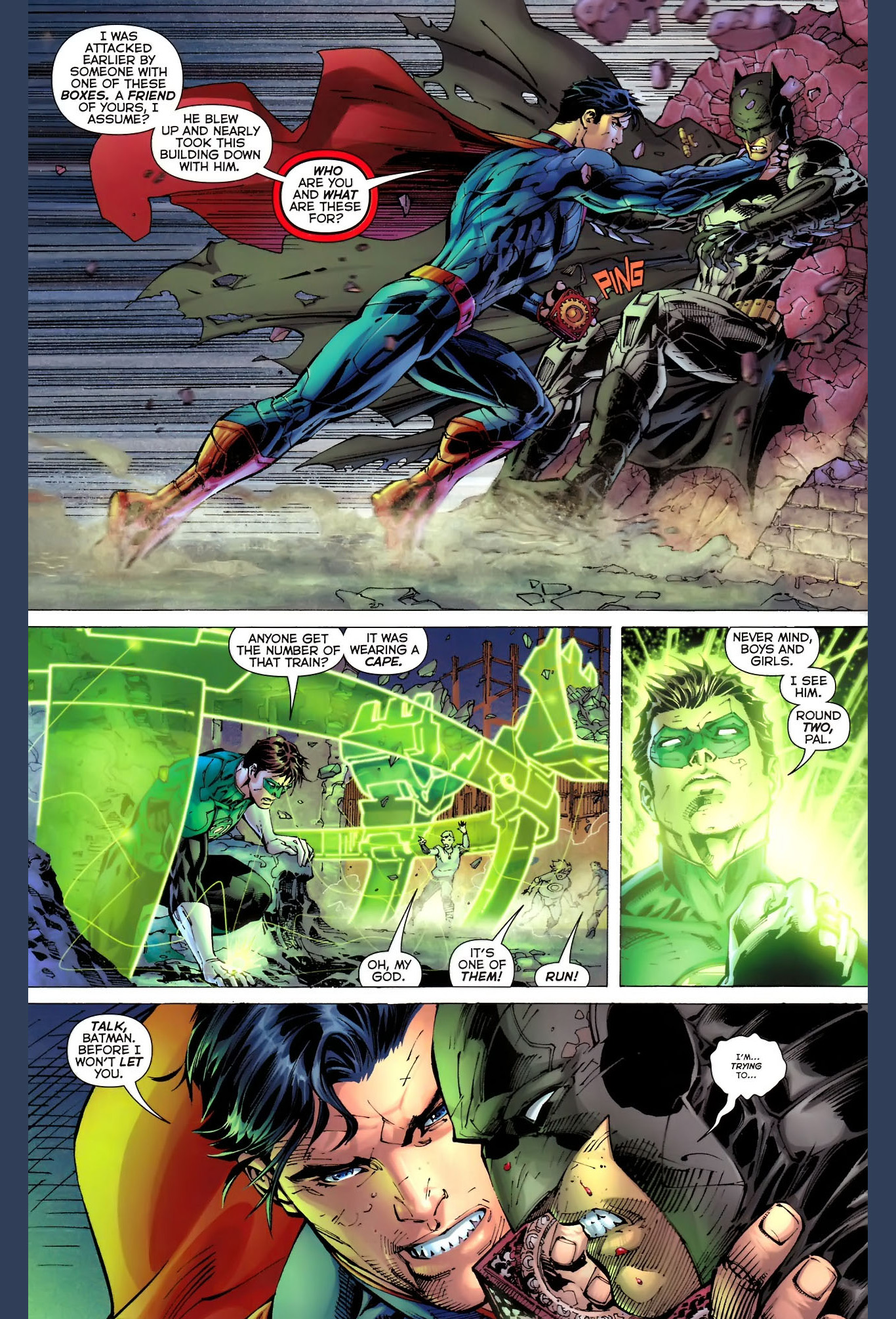 superman and batman's first meeting (new 52)