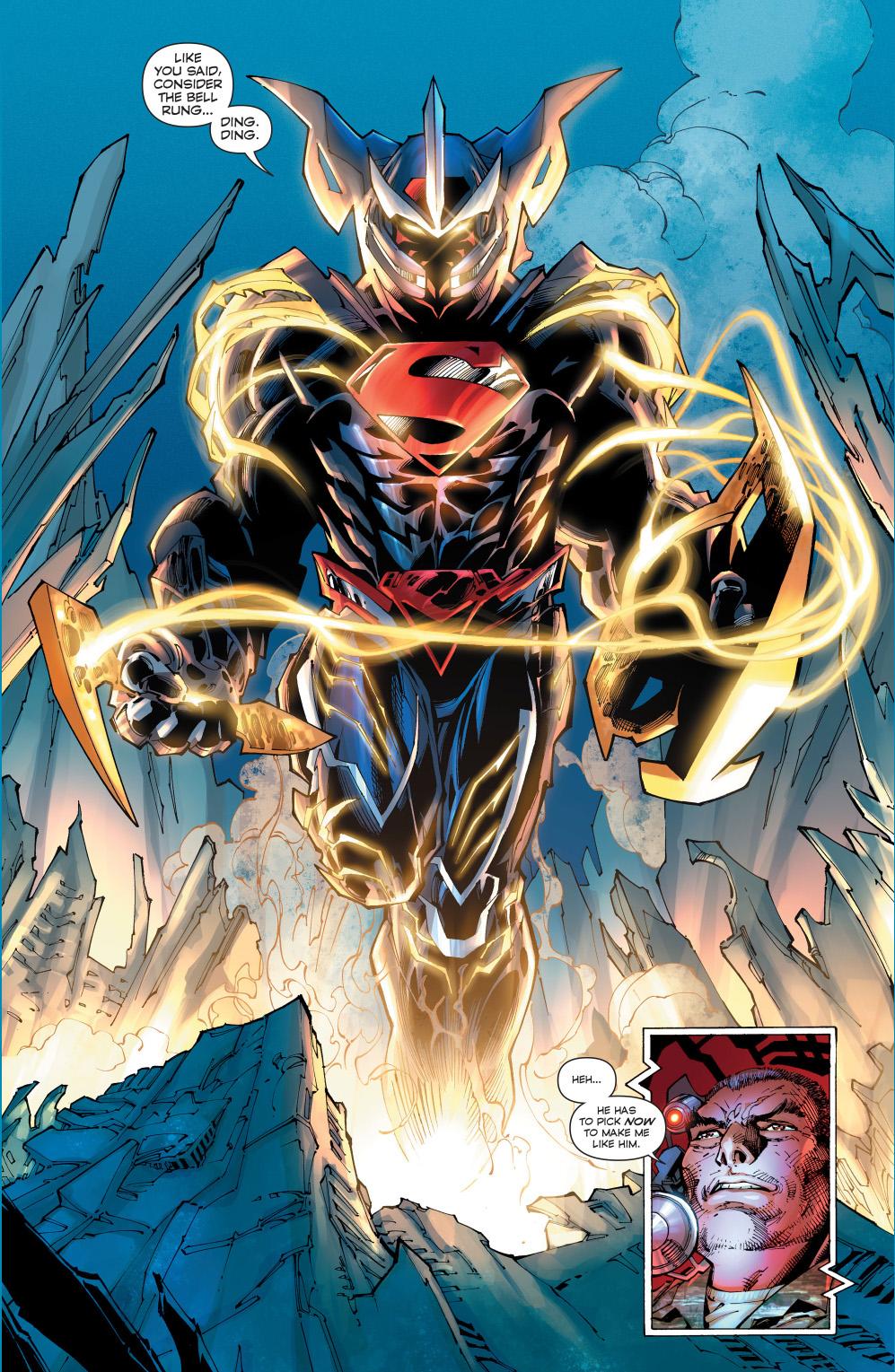 superman dons an armor