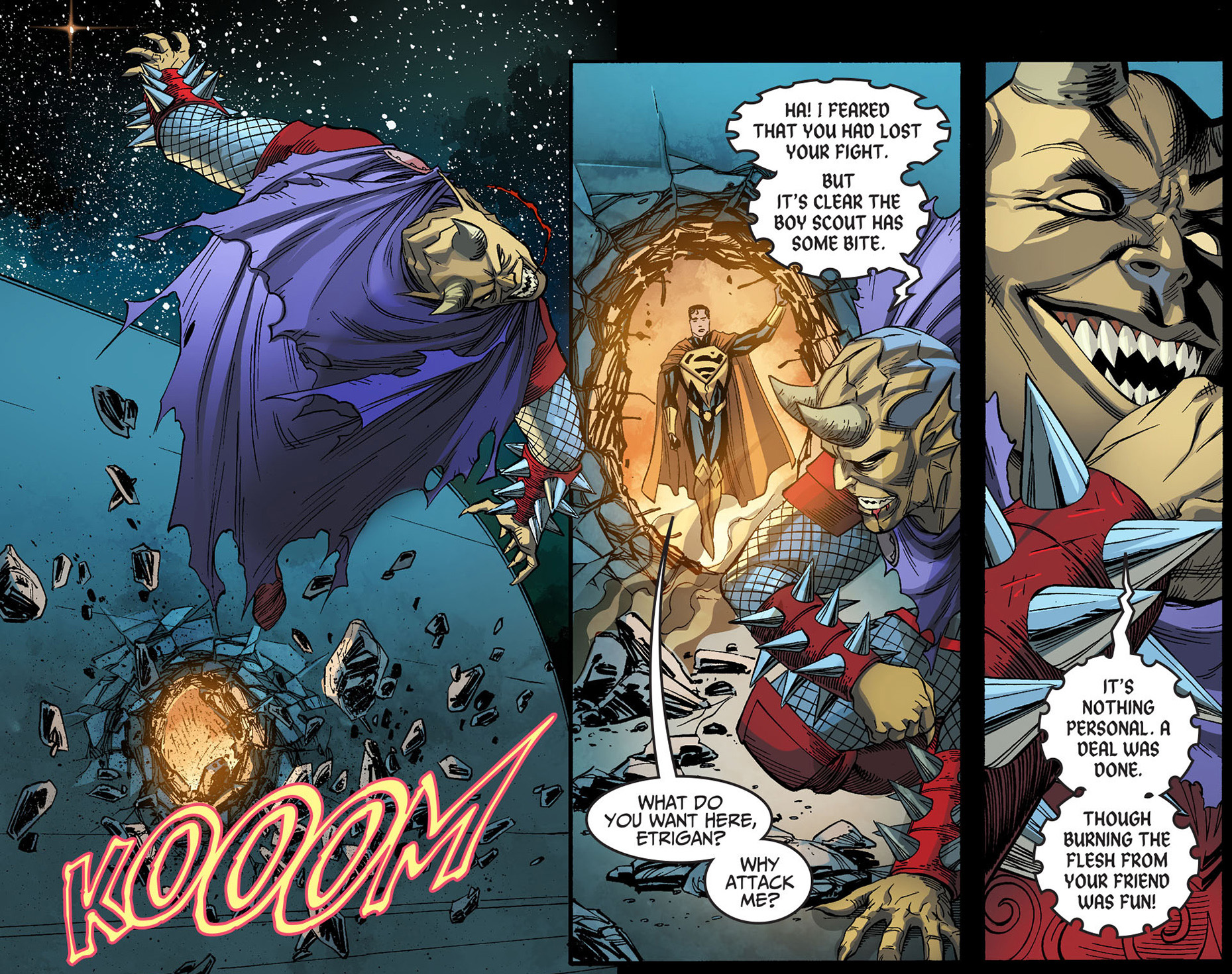 superman vs etrigan (injustice gods among us)