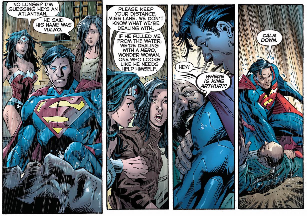 vulko punches superman
