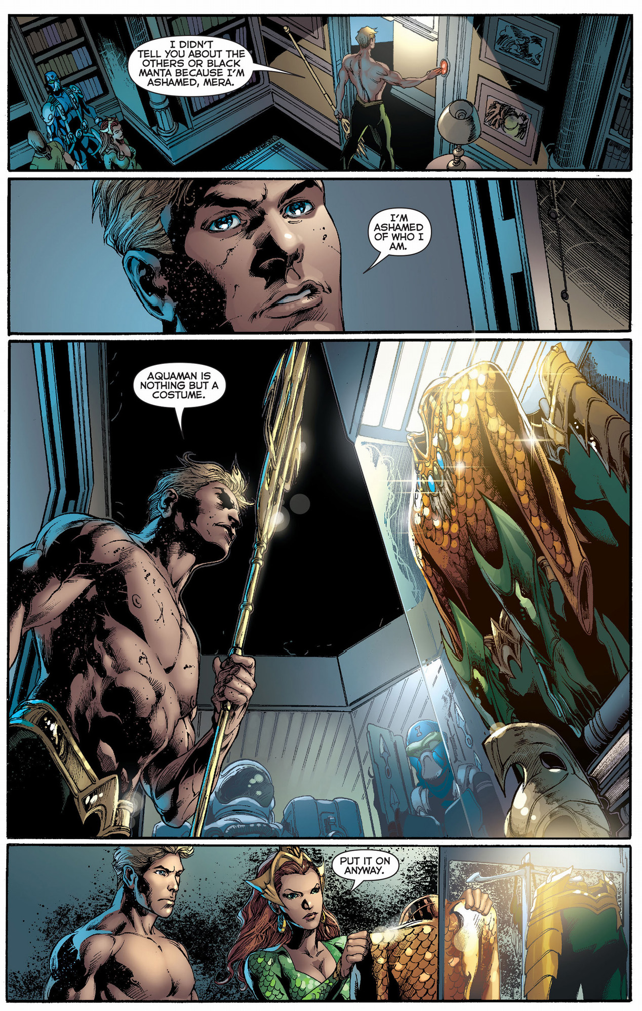 why aquaman is ashamed of his past