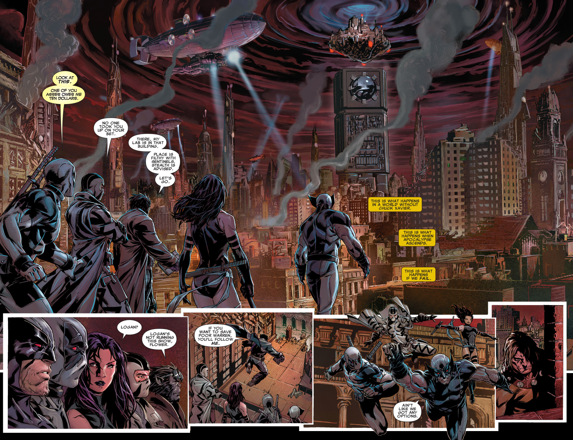 x-force travels to the age of apocalypse