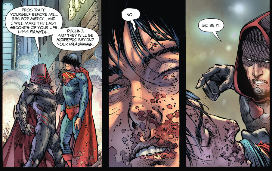 zod tortures superman (earth 1)