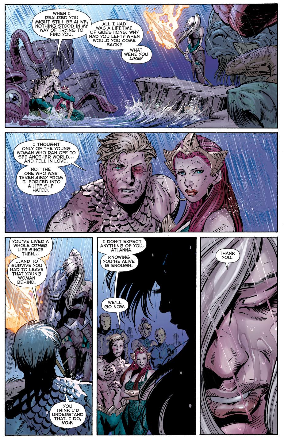 aquaman convinces atlanna of his identity