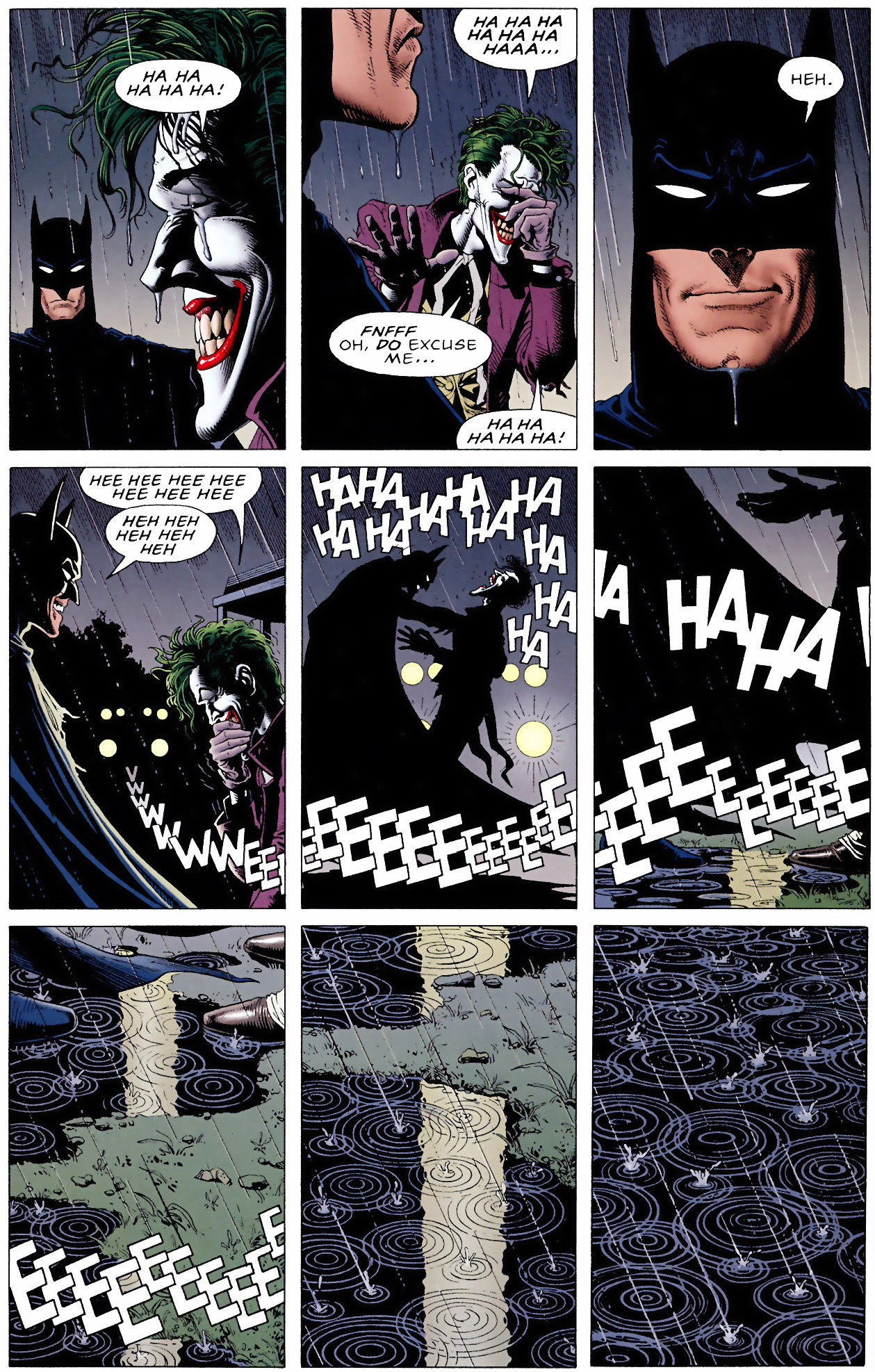batman and the joker share a laugh