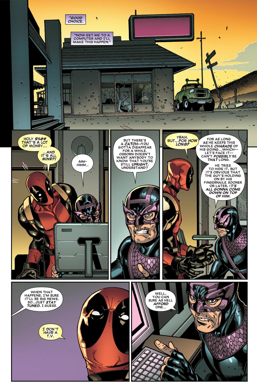 dark avengers hawkeye bribes deadpool