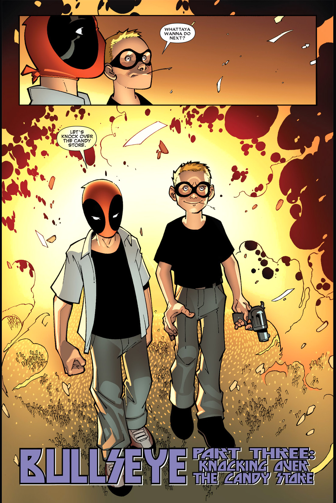 deadpool and bullseye as kids
