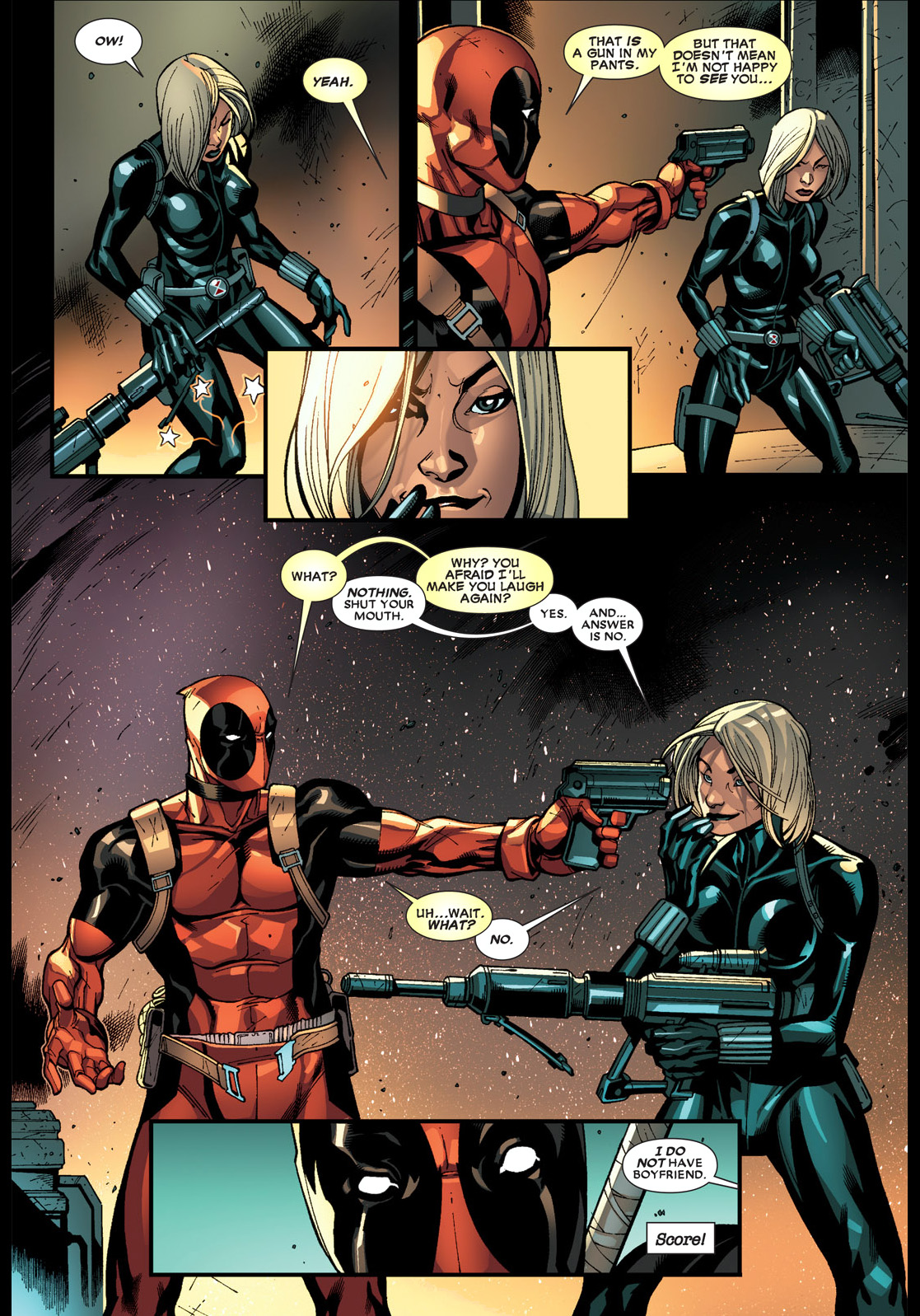 deadpool flirts with black widow