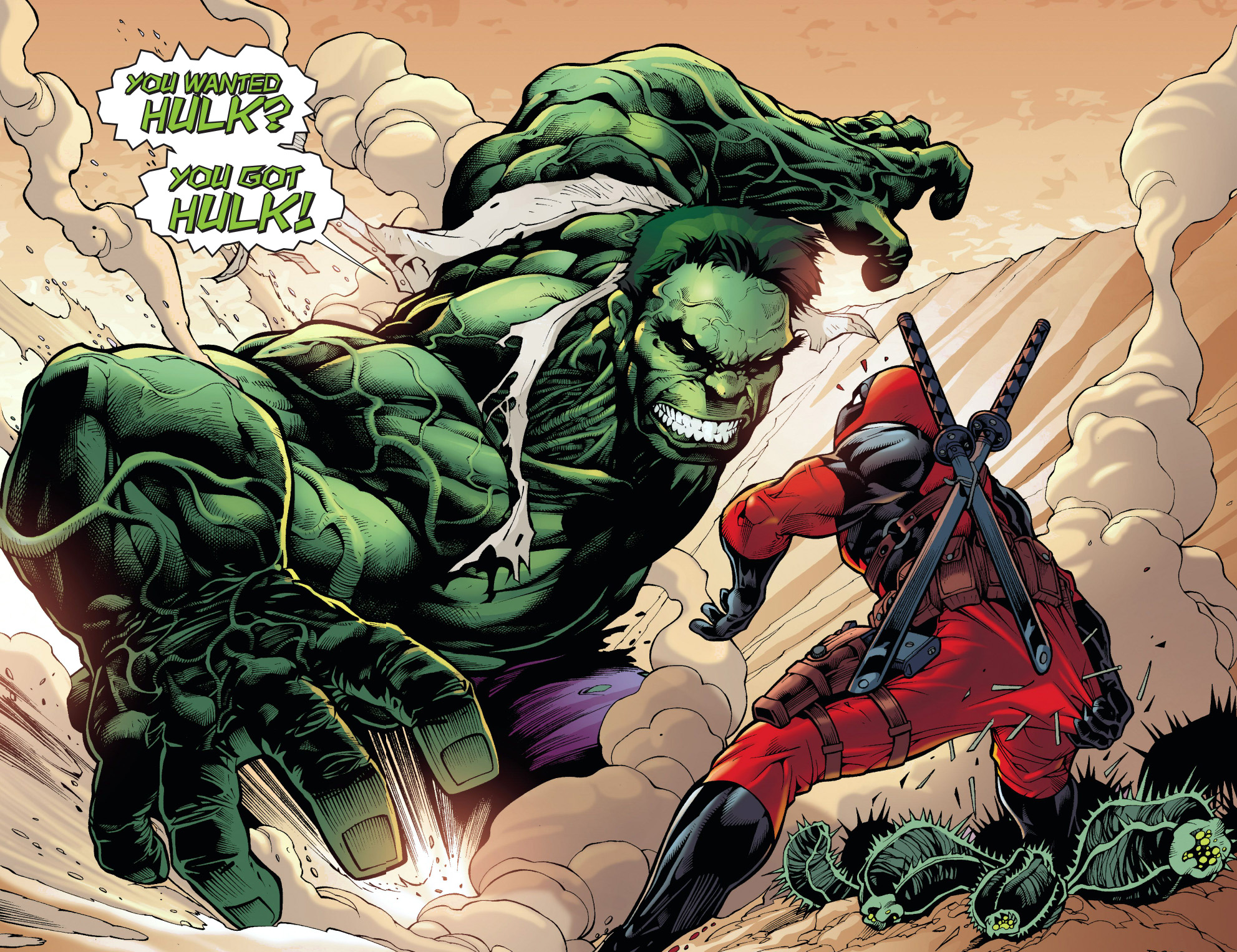 deadpool forces bruce banner to hulk up