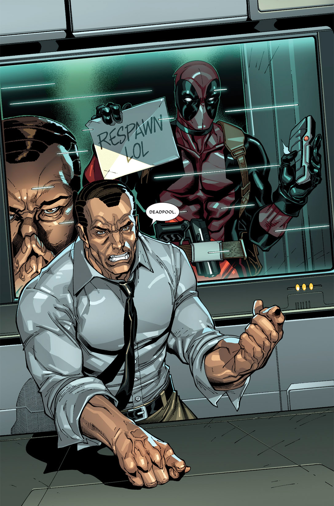deadpool photobombs norman osborn