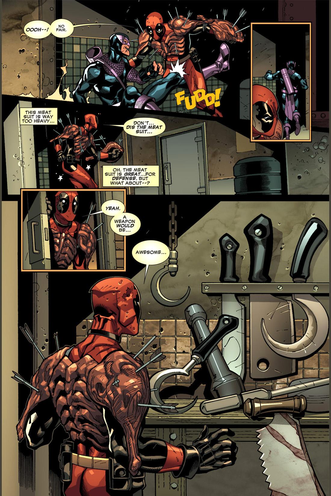 deadpool stabs dark avengers hawkeye