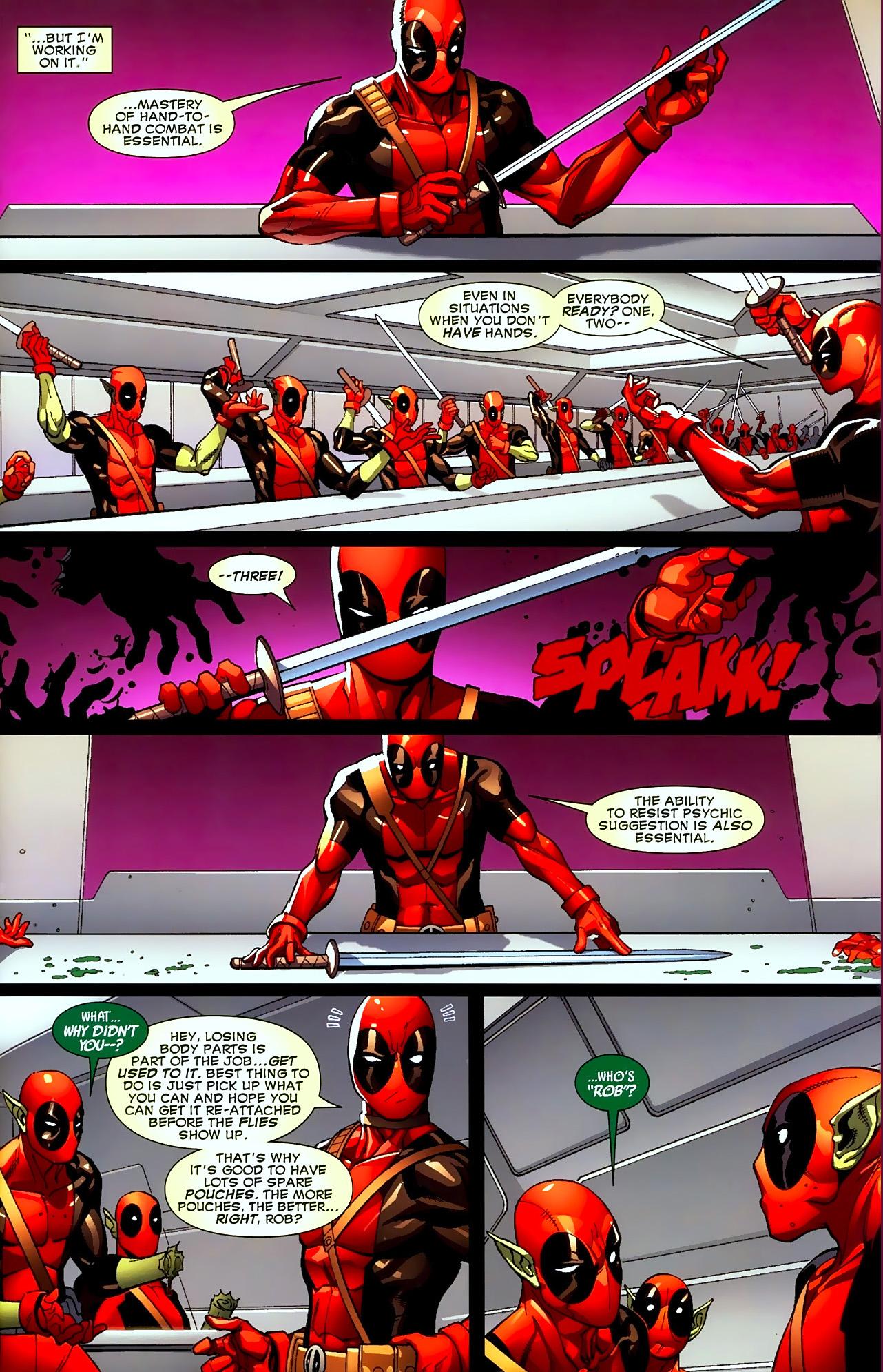 deadpool trains his deadpool-type super-skrulls