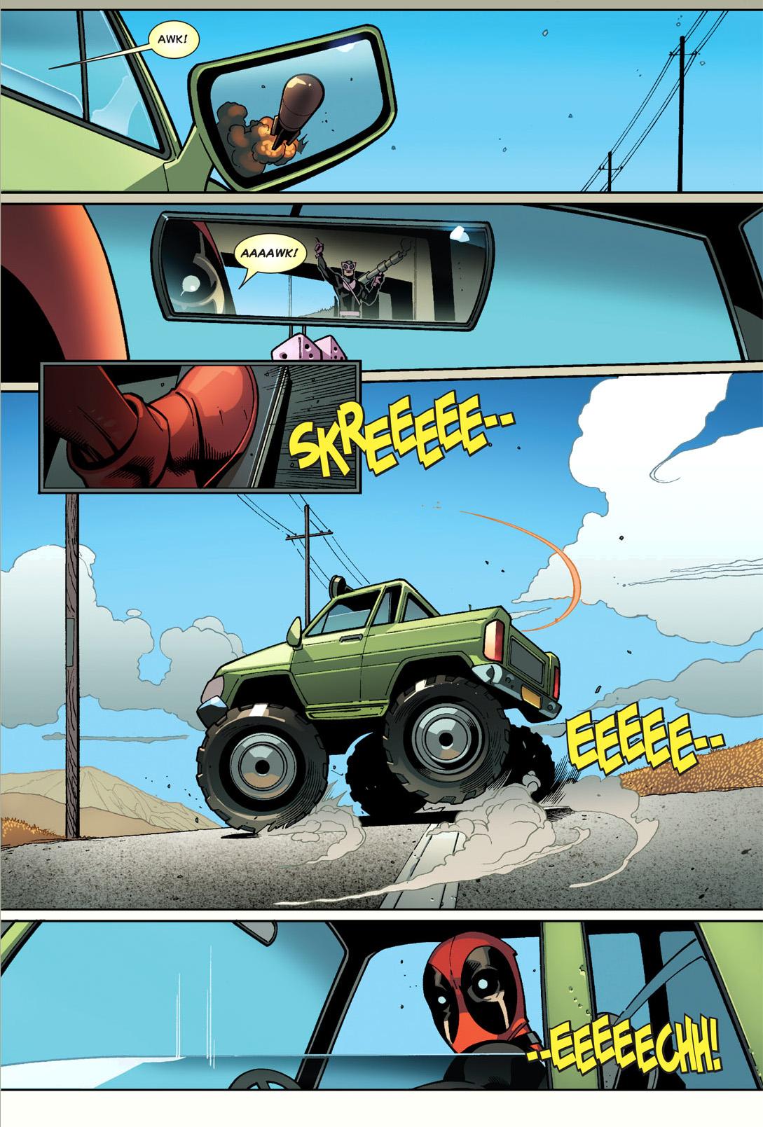 deadpool's mad driving skills