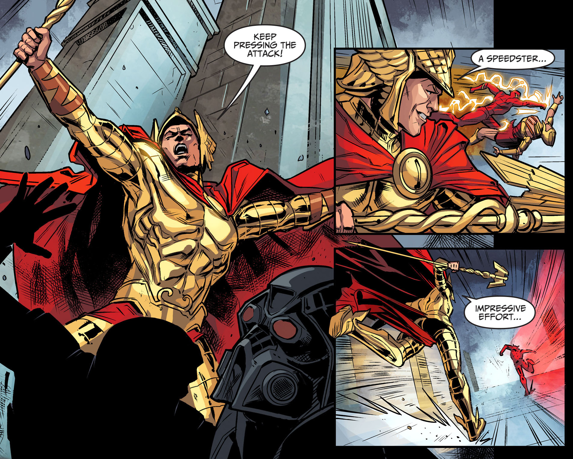 hermes takes out the flash (injustice gods among us)