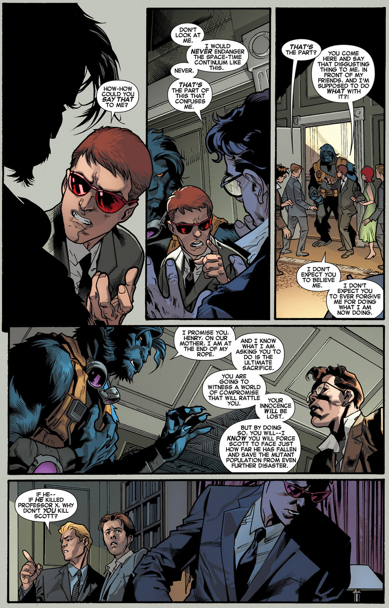 how beast convinced the original x-men to join him