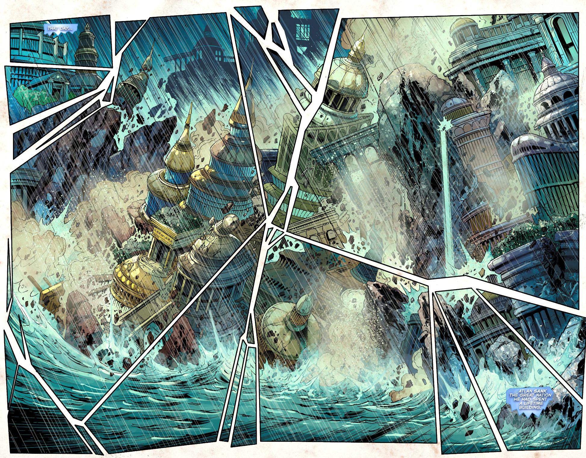 king atlan sinks atlantis