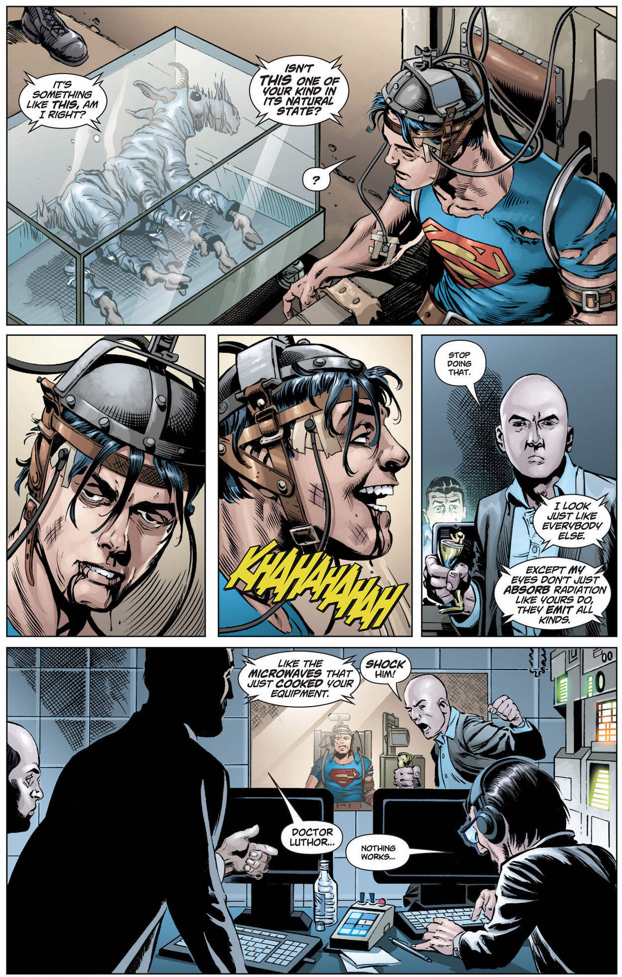 lex luthor's theory on superman's real form