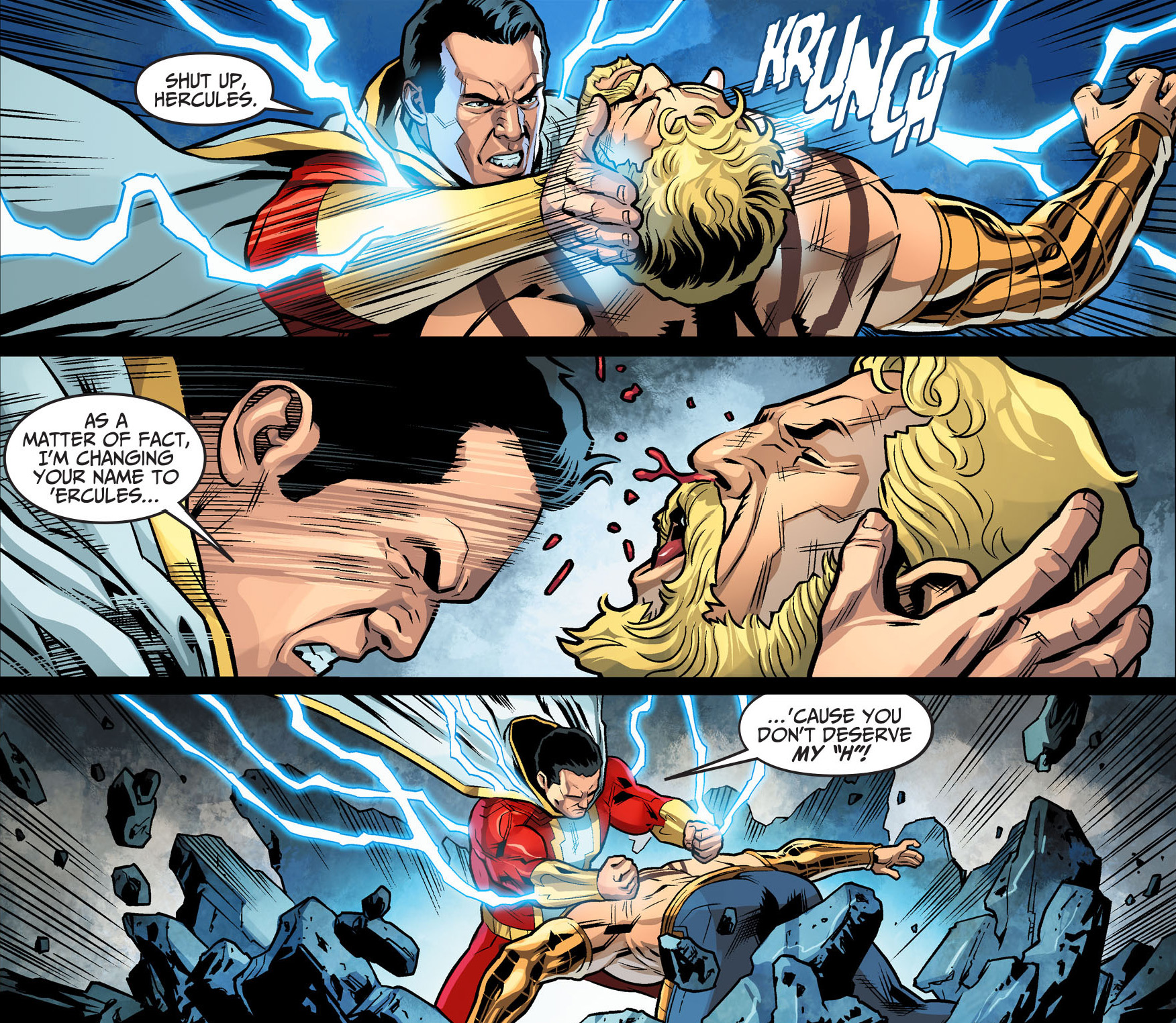 shazam vs hercules (injustice gods among us)