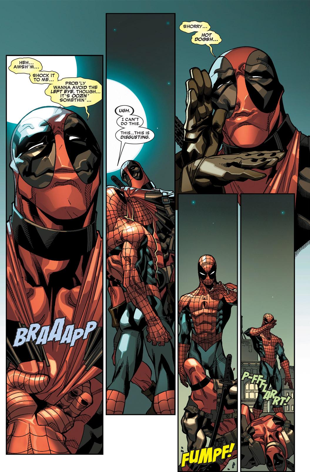 spider-man attacks deadpool