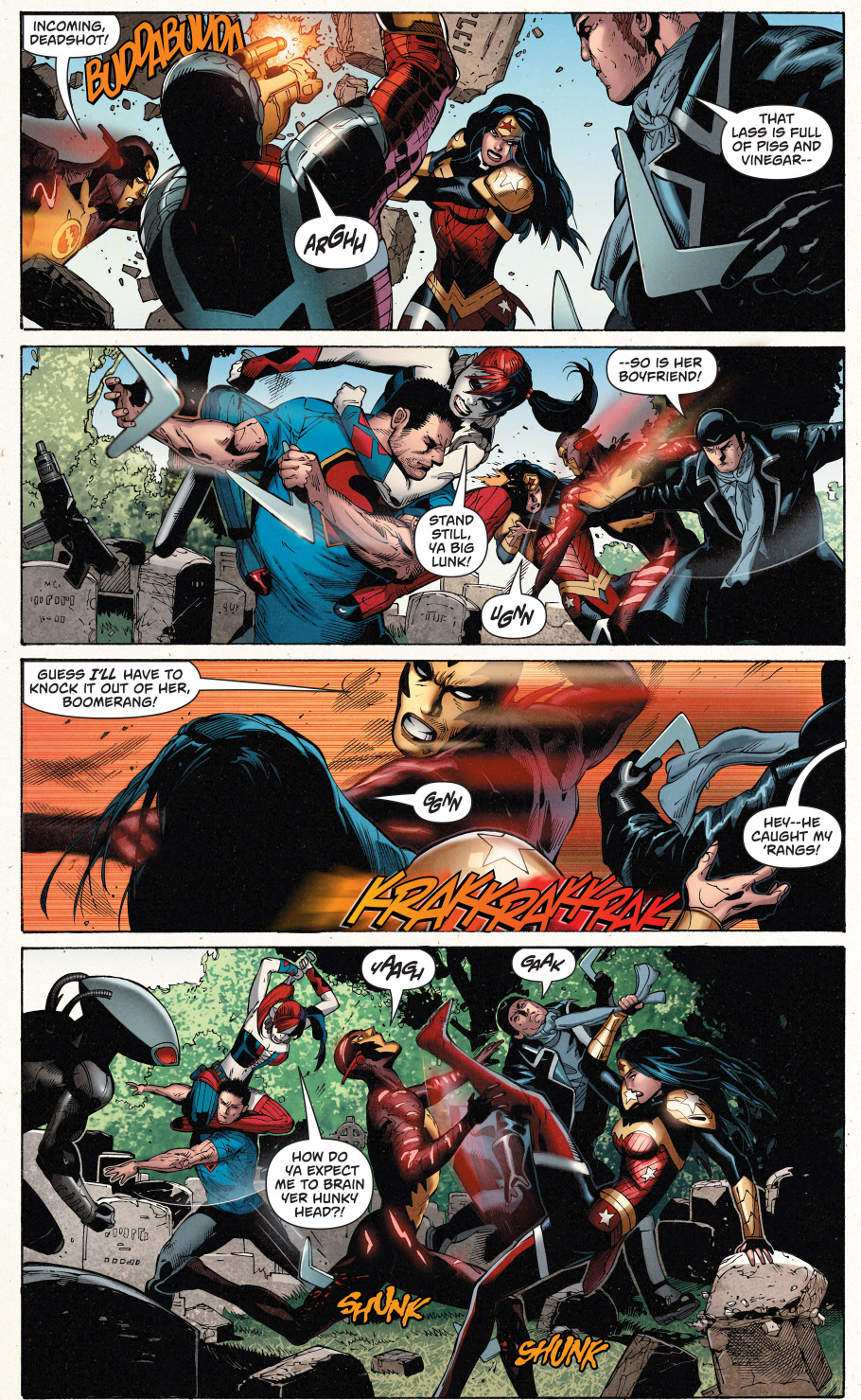 superman and wonder woman vs the suicide squad 2