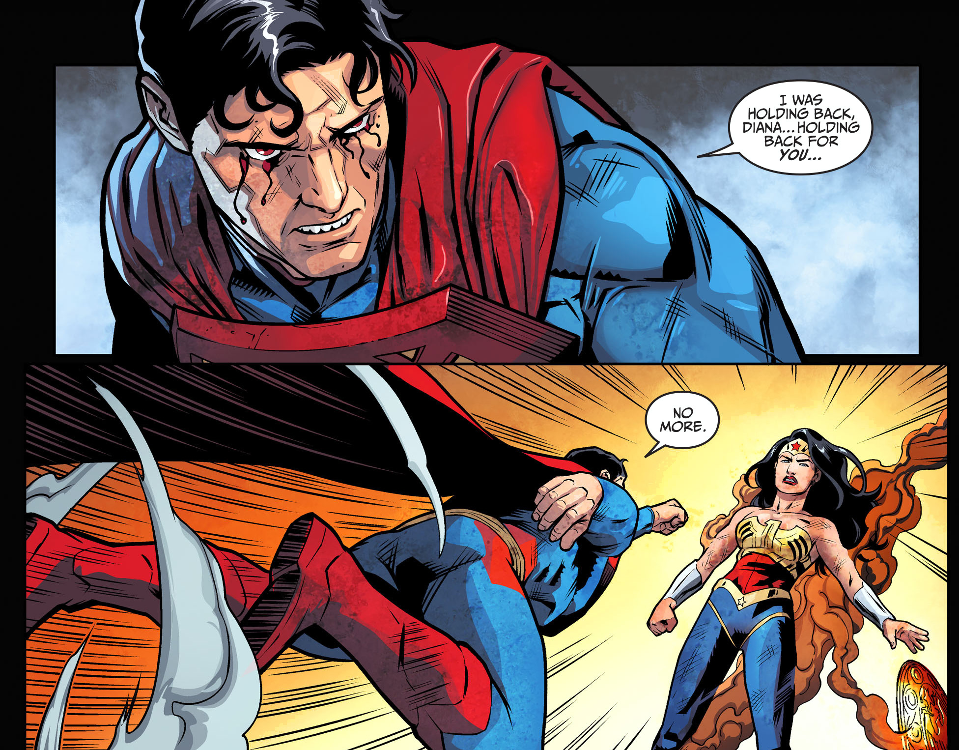 Superman Fights Wonder Woman With Only One Hand - Comicnewbies