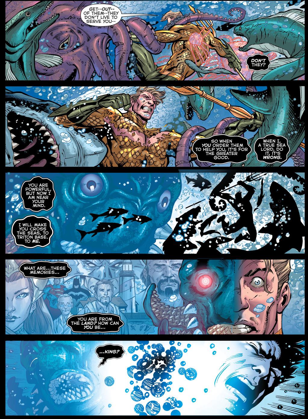 the chimera attacks aquaman