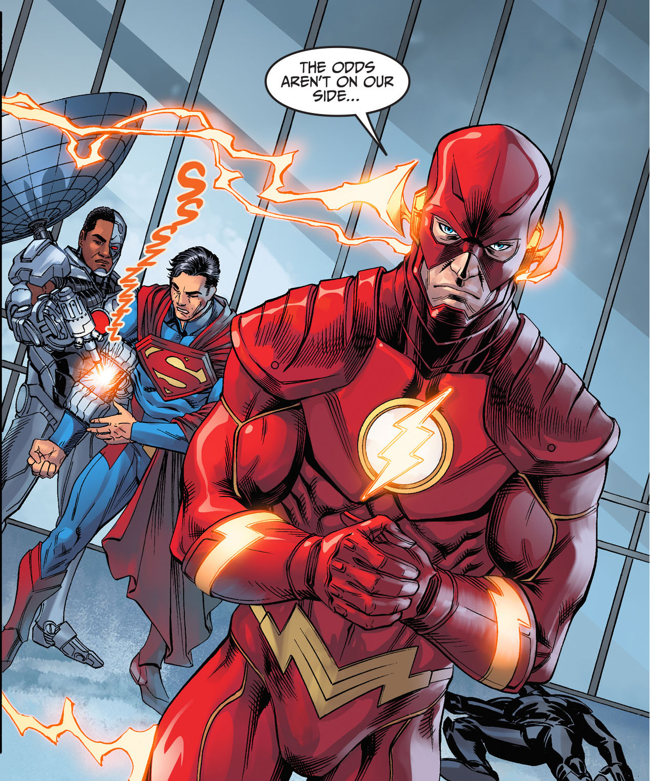 the flash takes on the olympian gods