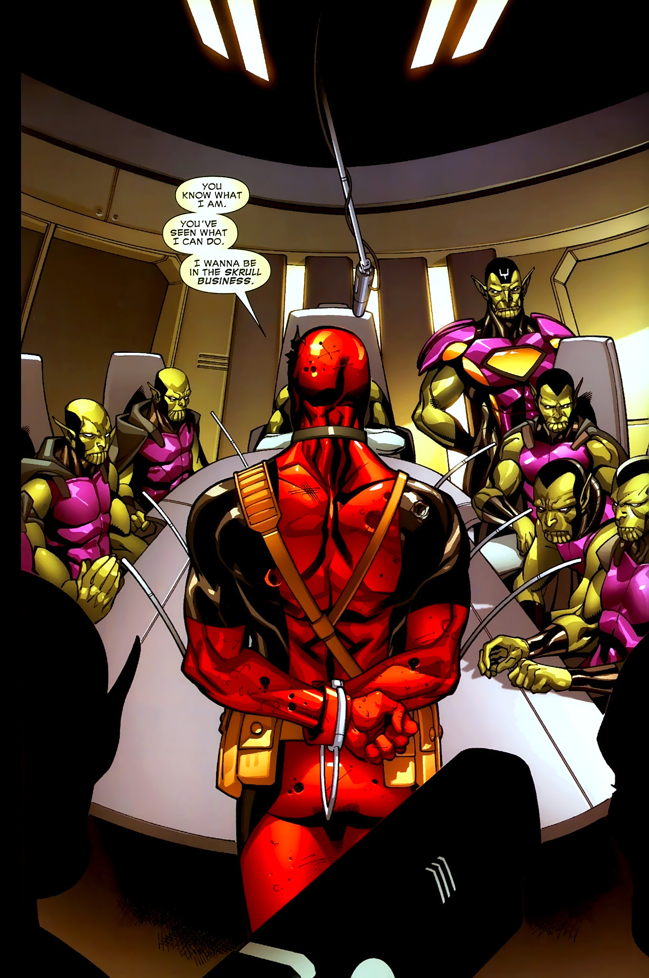 why deadpool wants to join the skrulls