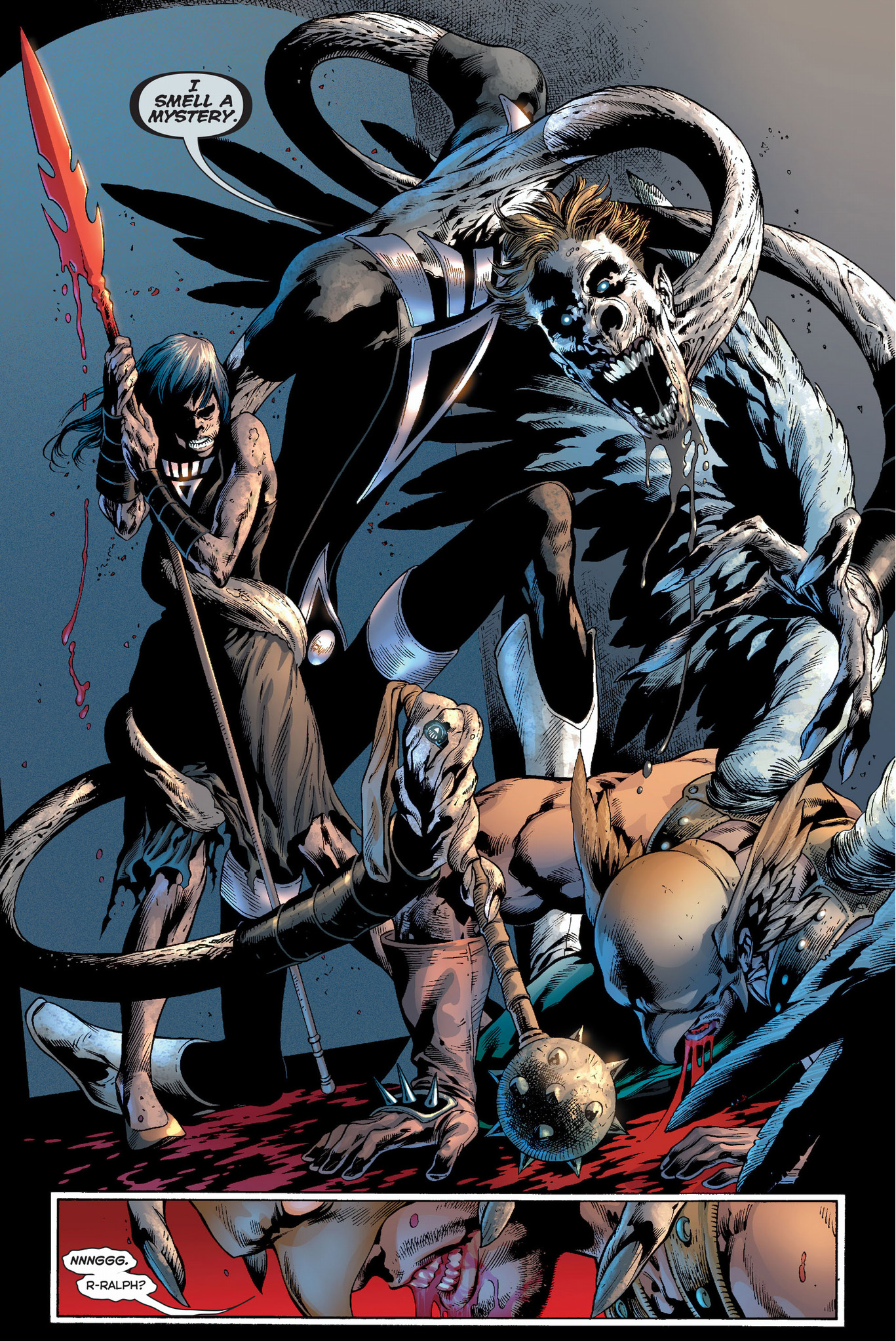 black lanterns kill hawkman and hawkgirl
