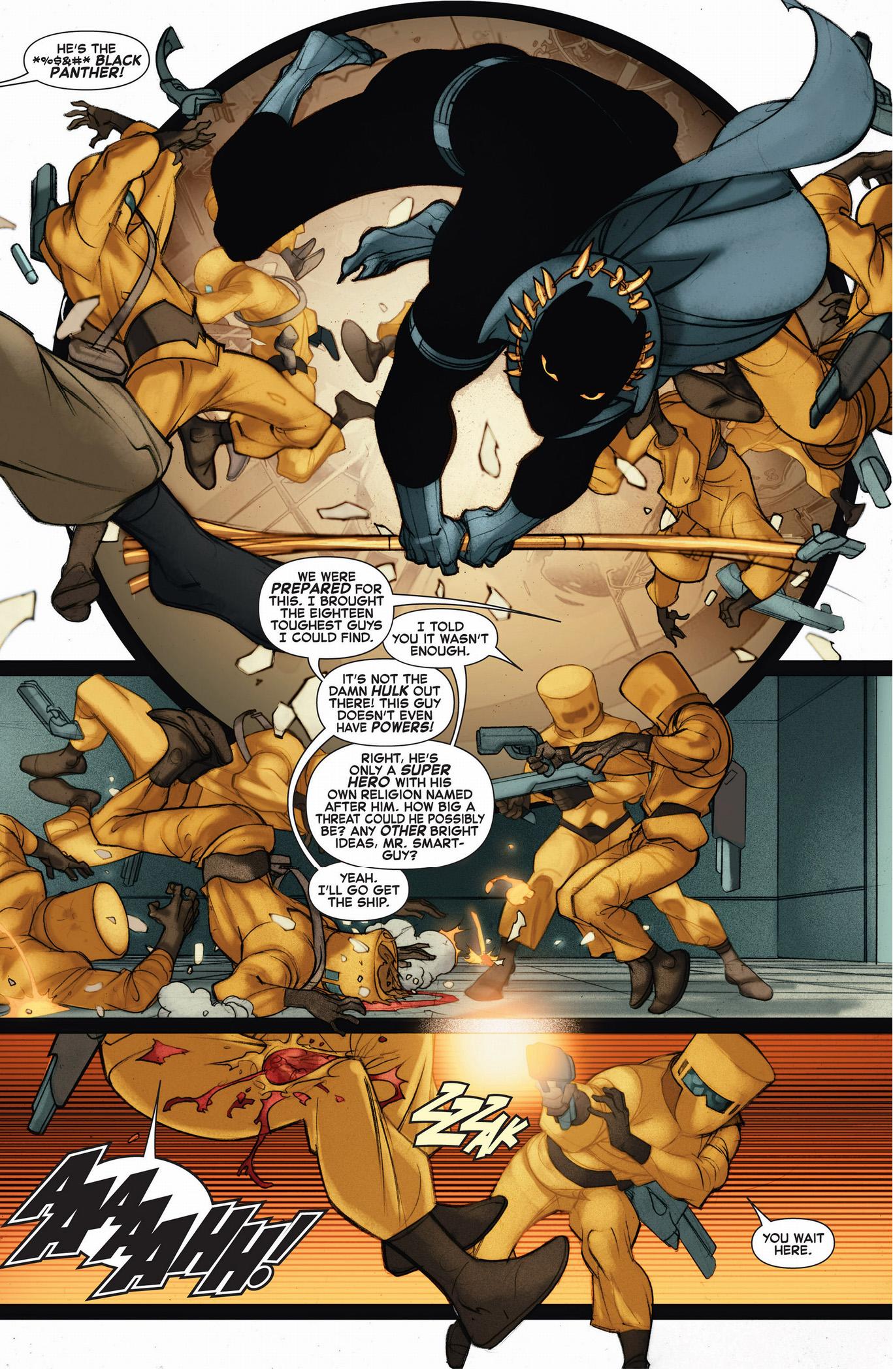 black panther vs aim henchmen